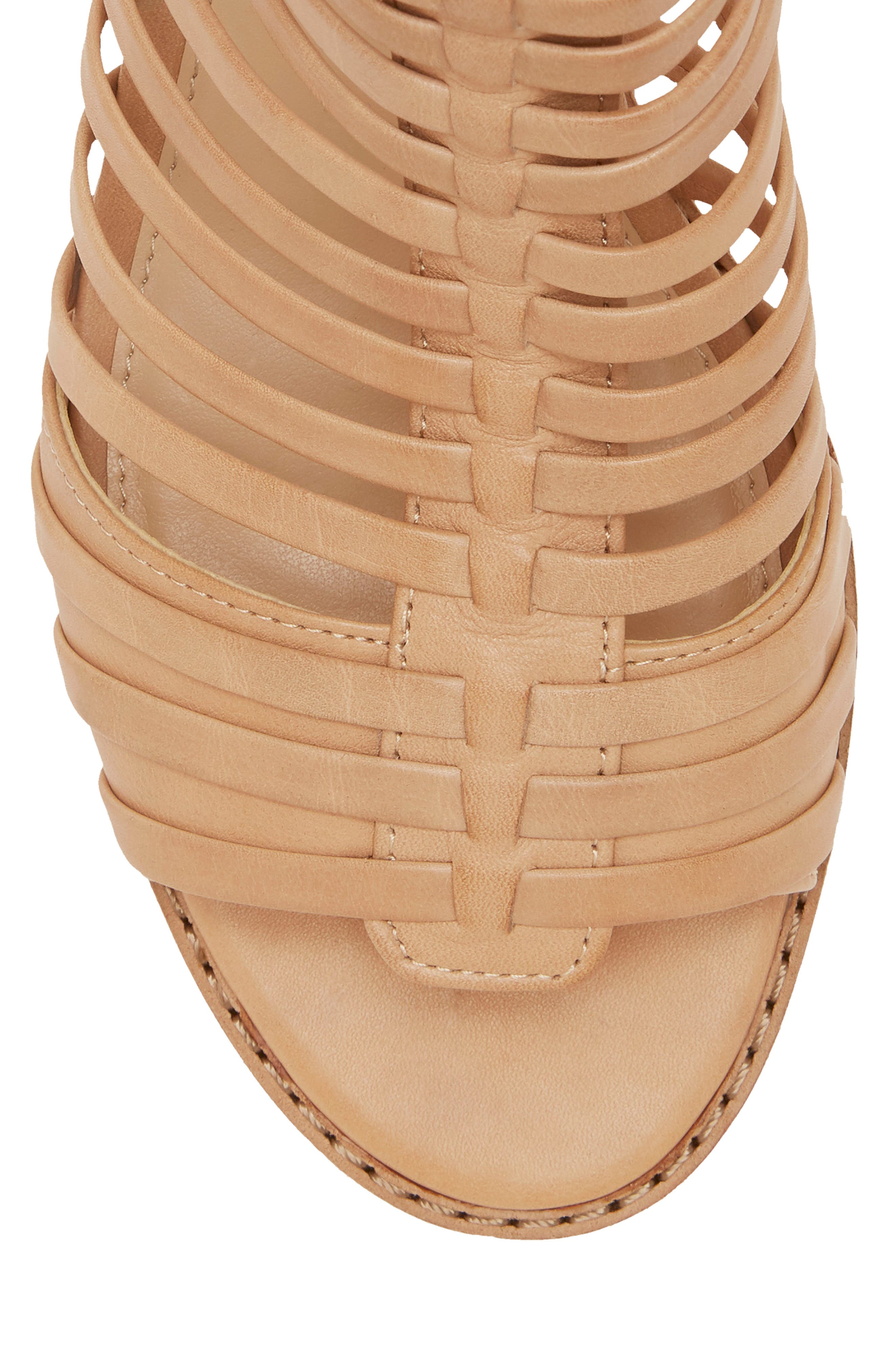 VINCE CAMUTO, Revey Wedge Sandal, Alternate thumbnail 8, color, NATURAL LEATHER