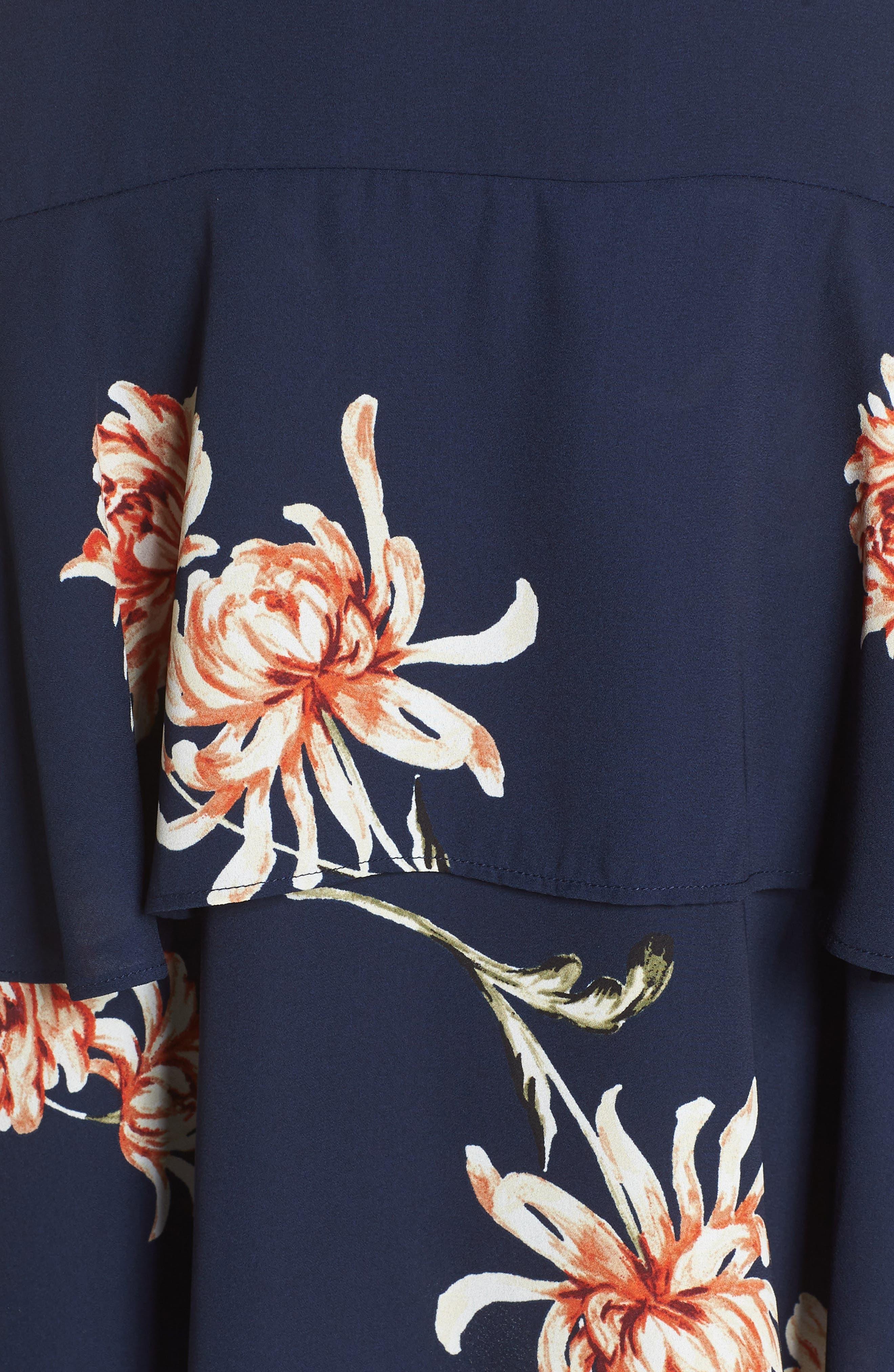 BB DAKOTA, Garden Variety Halter Neck Dress, Alternate thumbnail 6, color, OIL SLICK