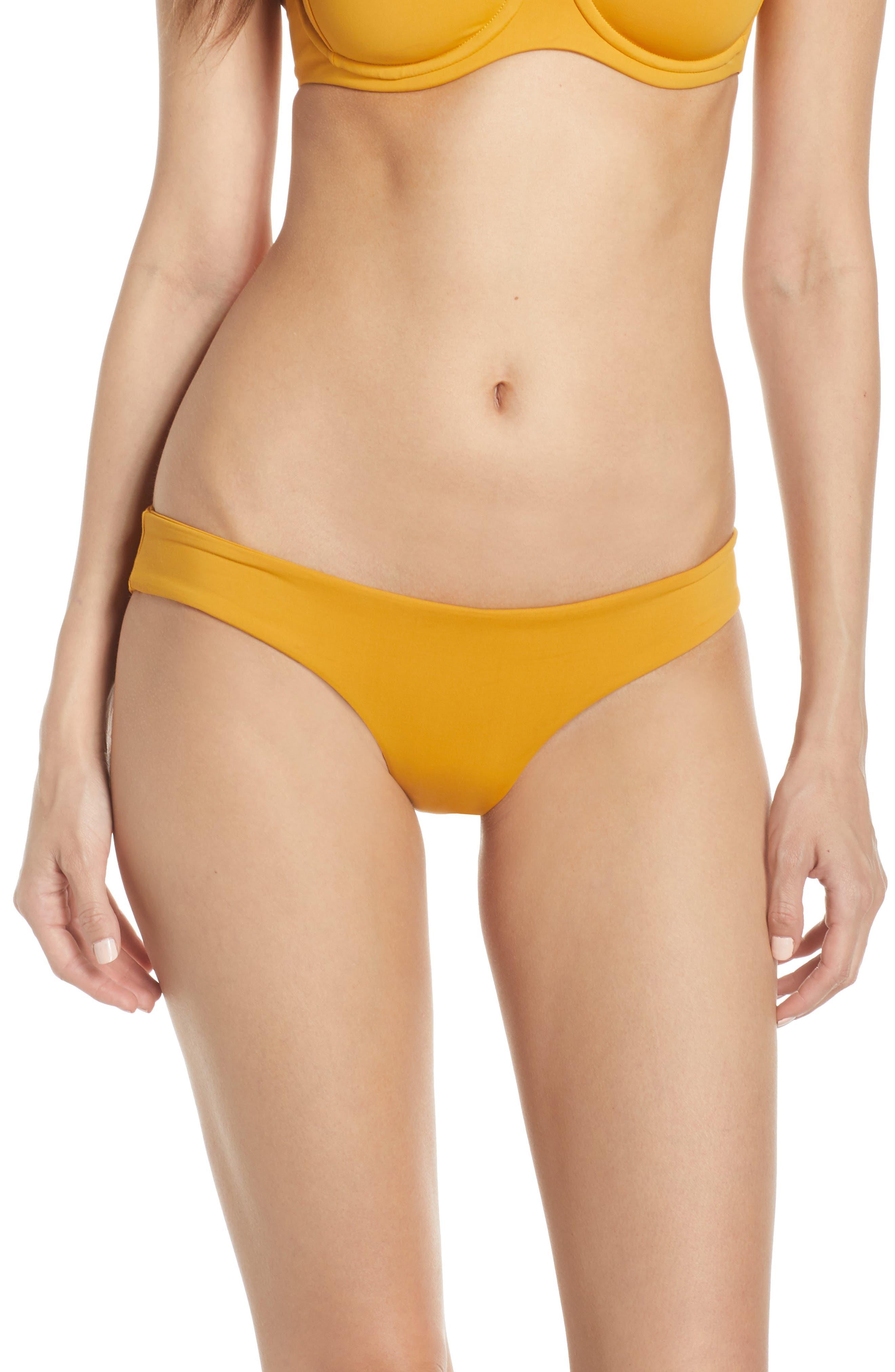 L SPACE, Sandy Classic Bikini Bottoms, Main thumbnail 1, color, BRONZE