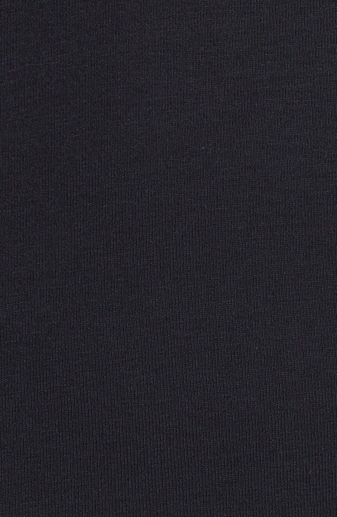 BCBGMAXAZRIA, 'Livi' Lace & Jersey Knit Sheath Dress, Alternate thumbnail 3, color, 001