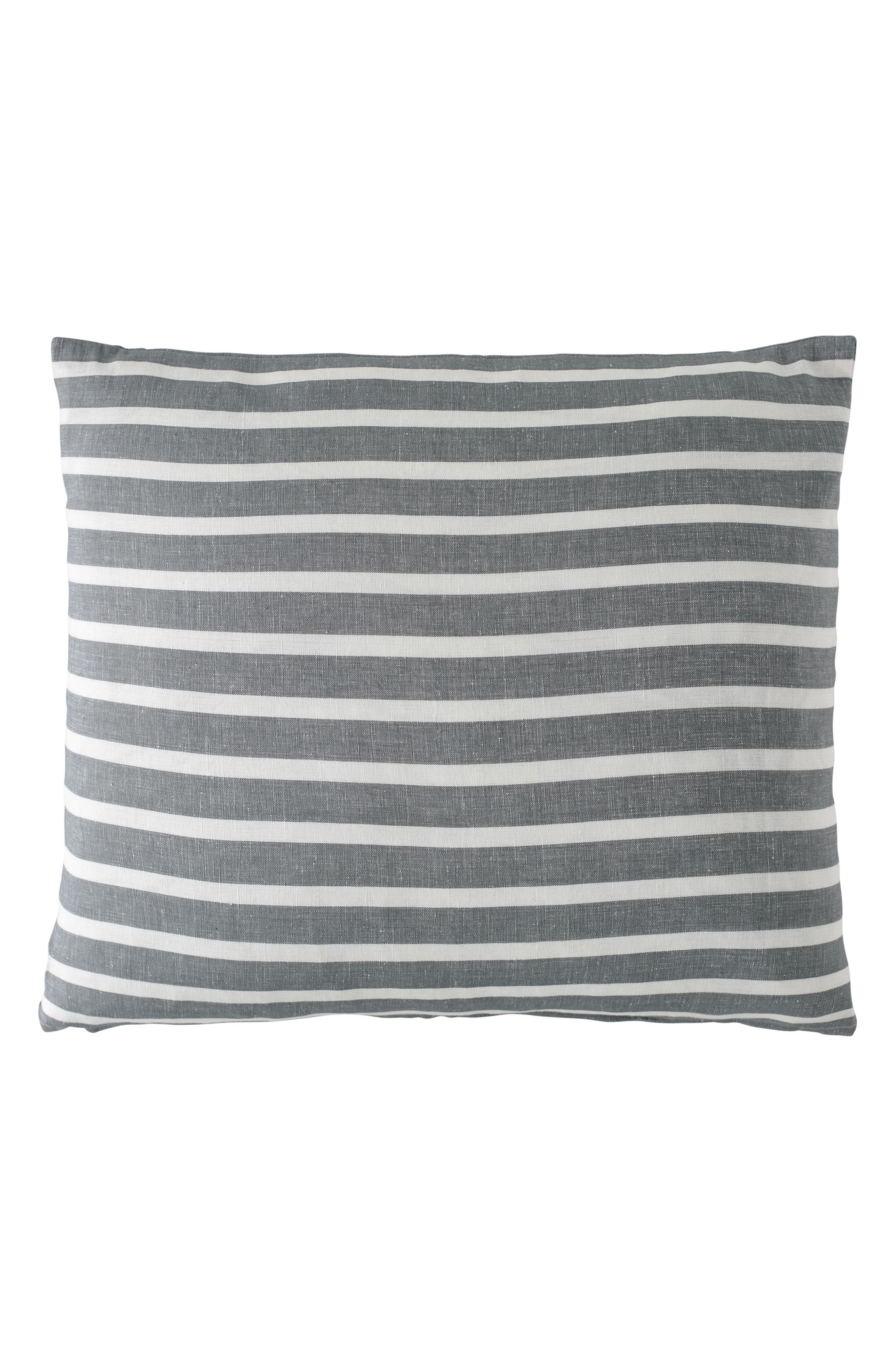EADIE LIFESTYLE Coitier Scatter Linen & Cotton Accent Pillow, Main, color, SLATE/ WHITE