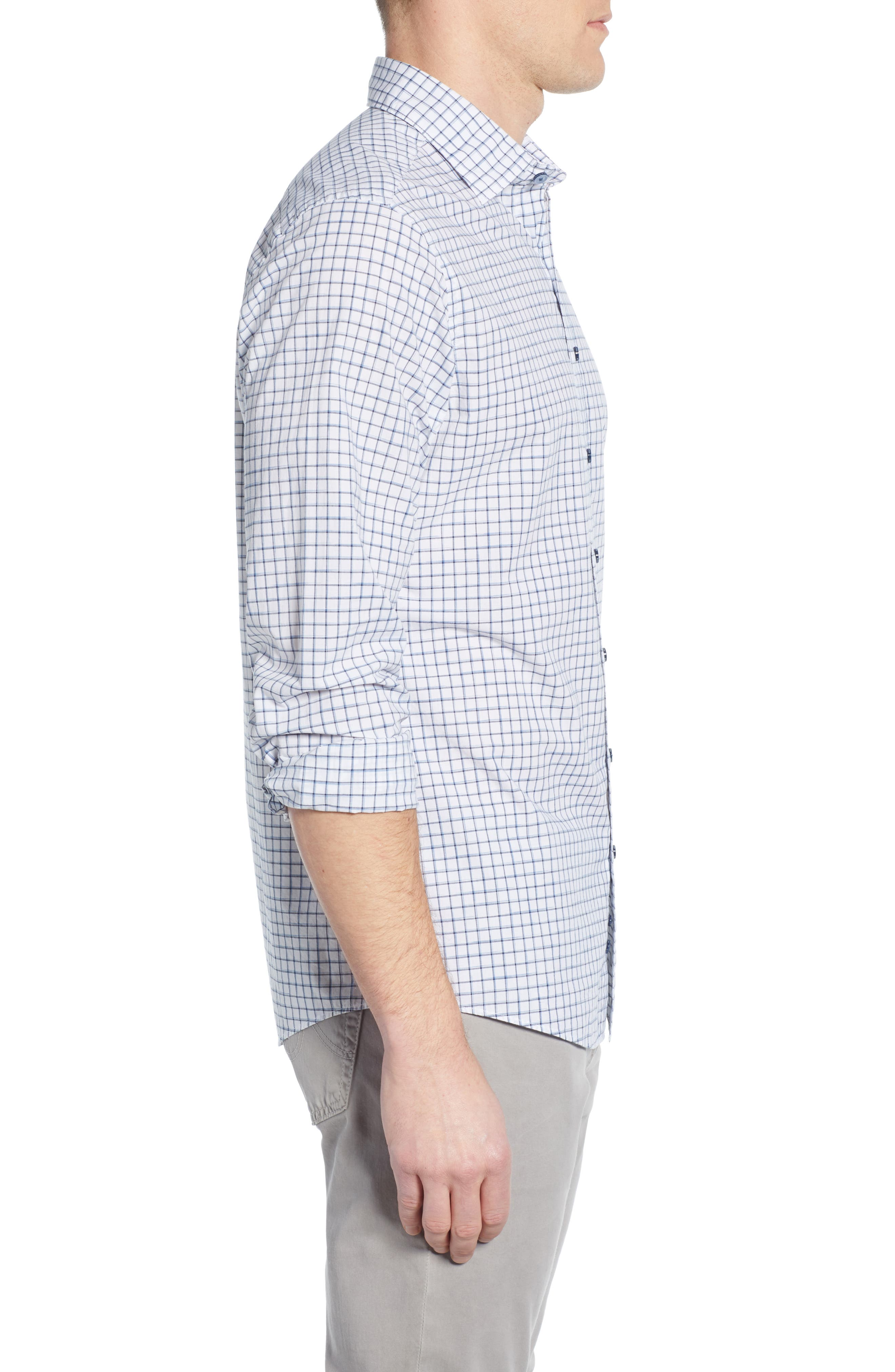 RODD & GUNN, Gowerville Regular Fit Check Sport Shirt, Alternate thumbnail 4, color, SNOW