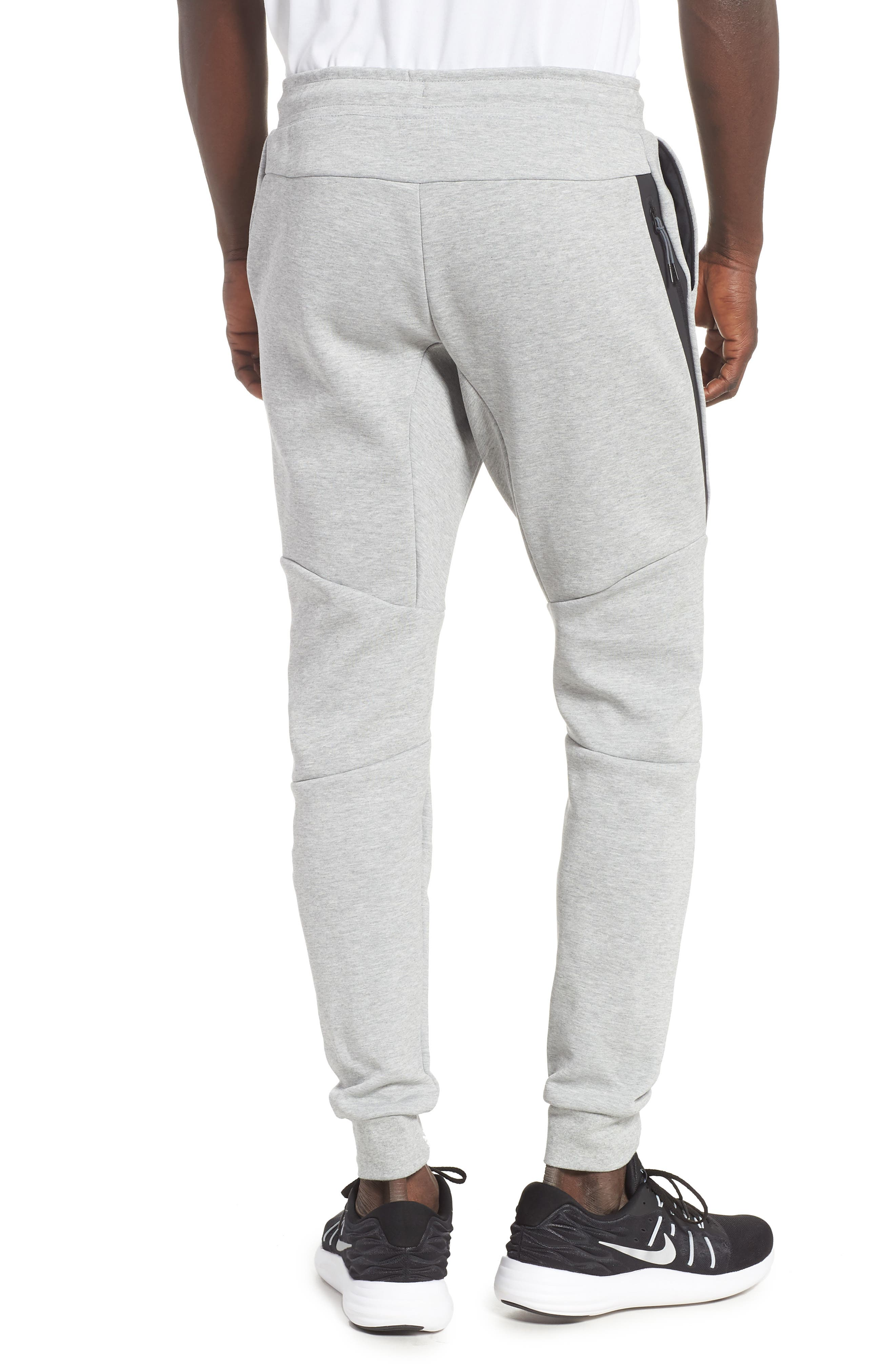 NIKE, Tech Fleece Jogger Pants, Alternate thumbnail 2, color, DARK GREY HEATHER/ BLACK