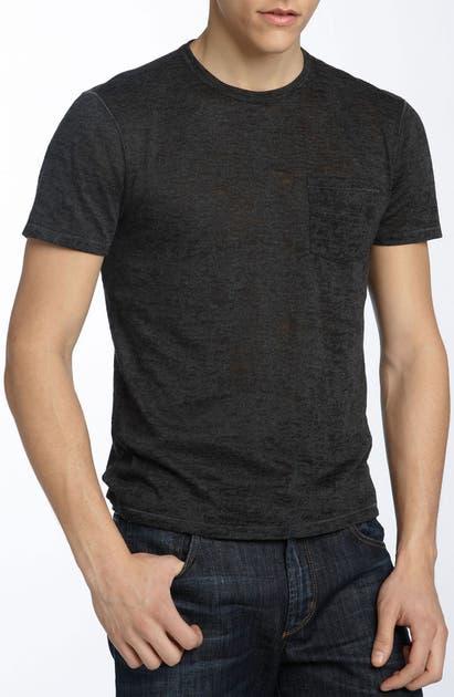 John Varvatos T-shirts BURNOUT TRIM FIT T-SHIRT