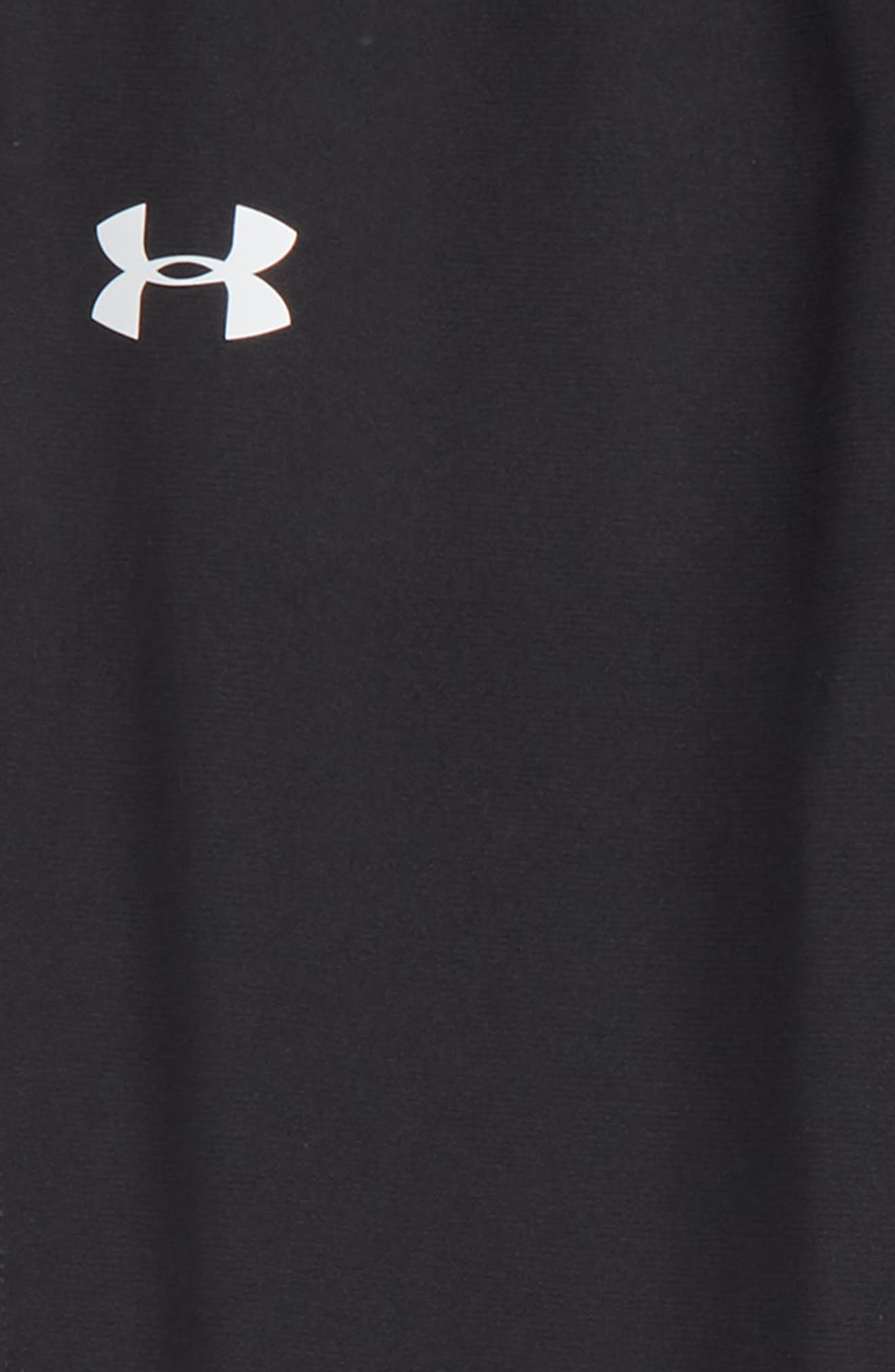UNDER ARMOUR, Brawler Tapered Sweatpants, Alternate thumbnail 2, color, BLACK/ WHITE