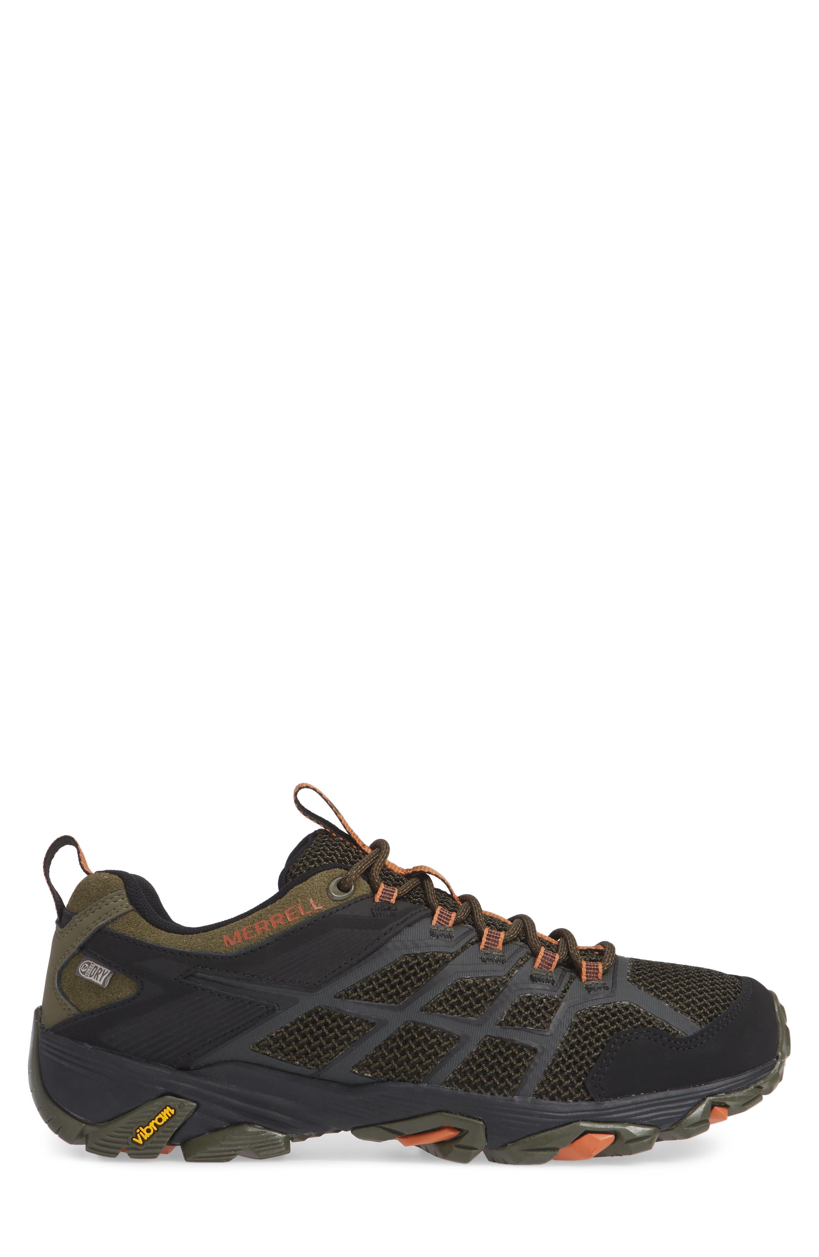 MERRELL, Moab FST 2 Waterproof Hiking Shoe, Alternate thumbnail 3, color, OLIVE/ ADOBE