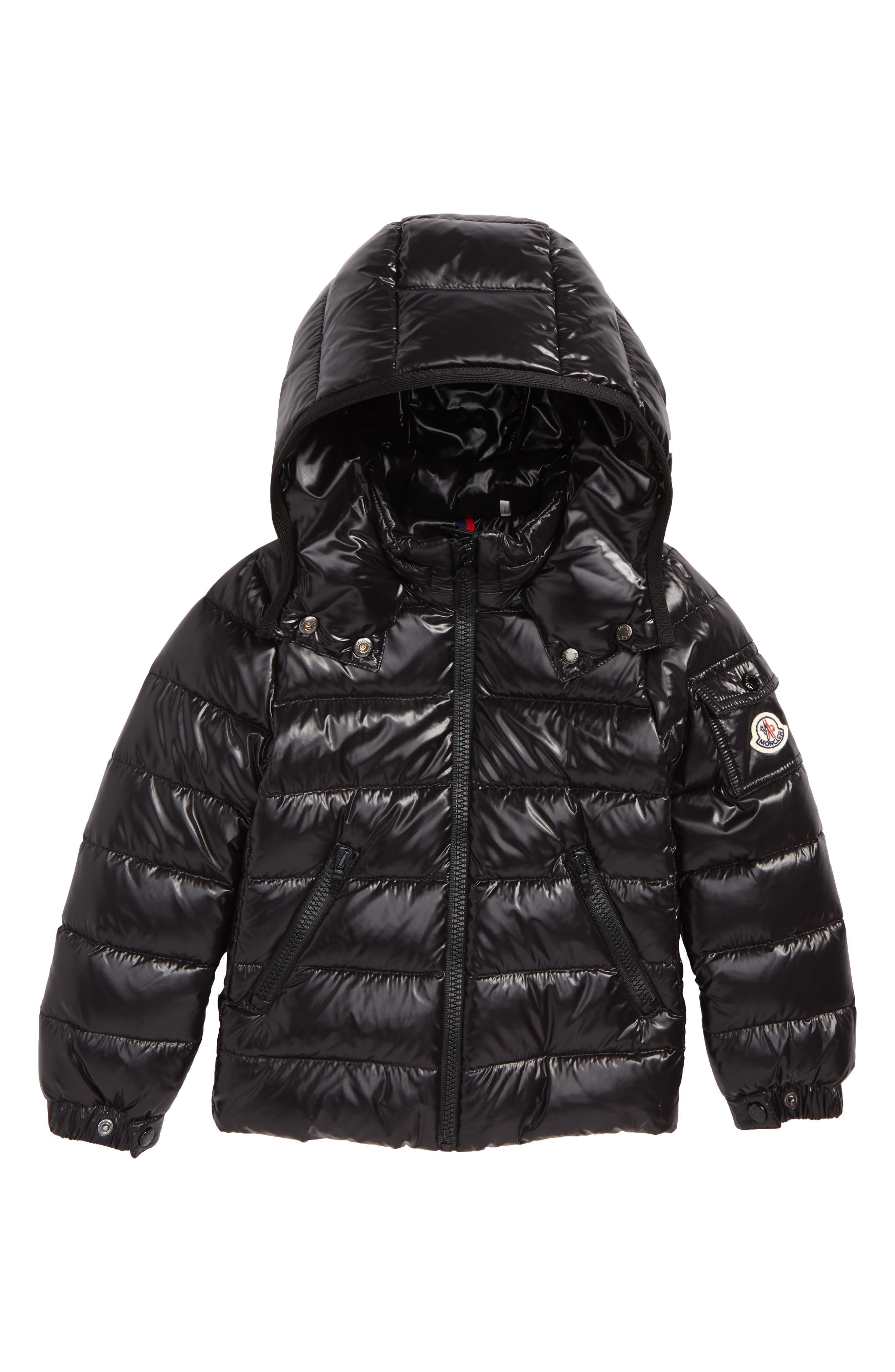 MONCLER, Bady Hooded Down Jacket, Main thumbnail 1, color, BLACK