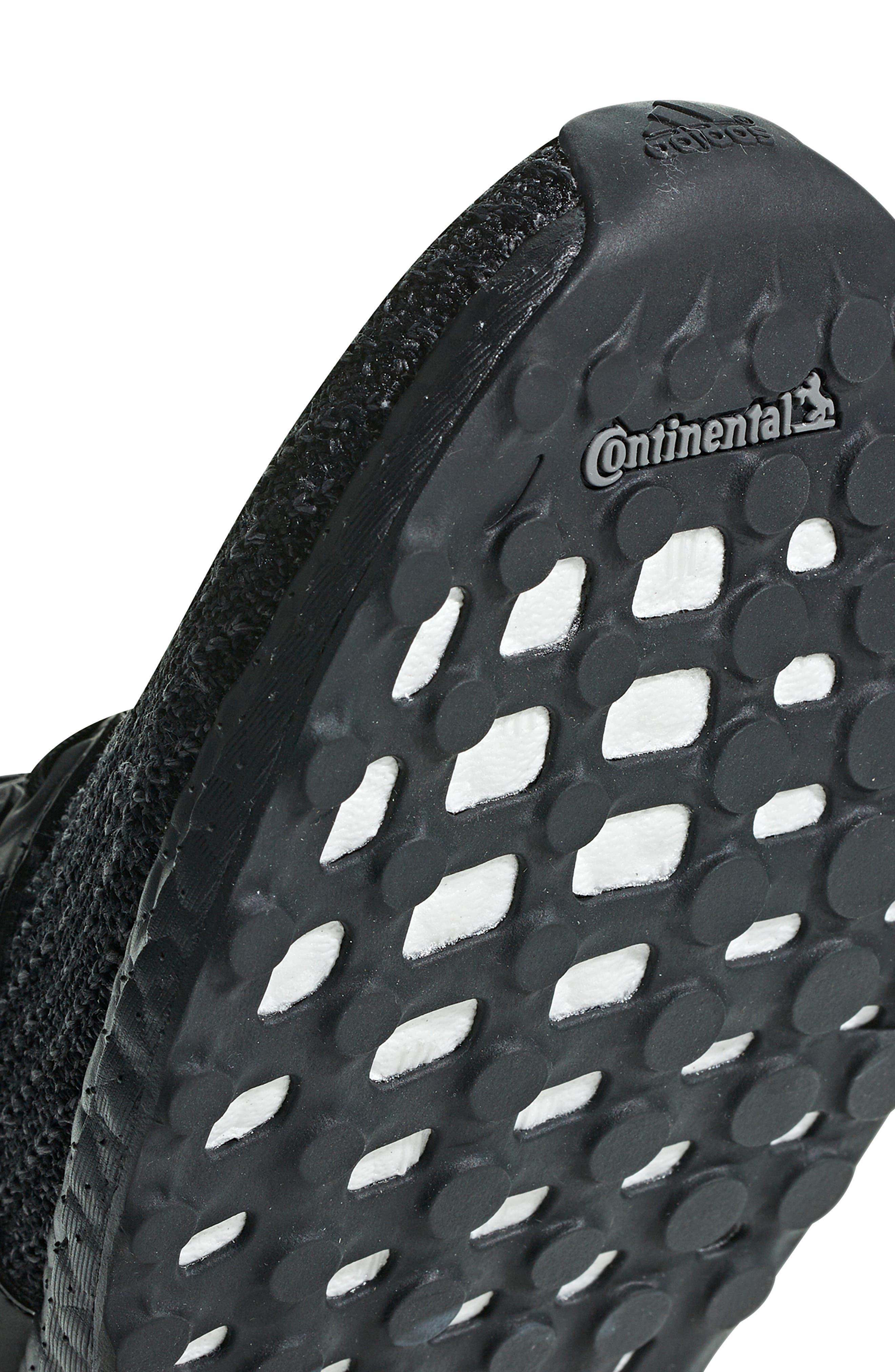 ADIDAS, 'UltraBoost' Running Shoe, Alternate thumbnail 8, color, CORE BLACK/ GOLD METALLIC