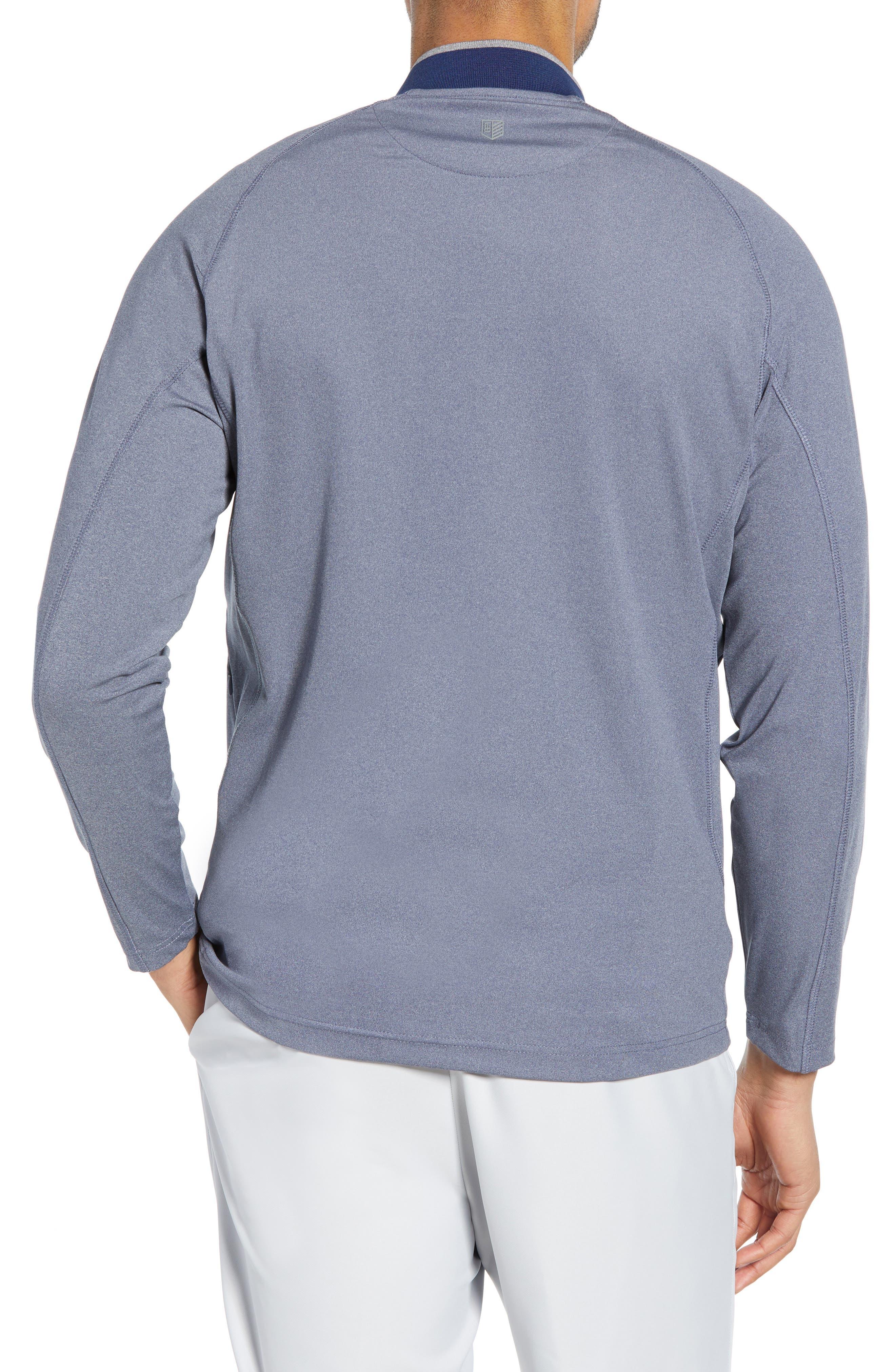 BOBBY JONES, Rule 18 Quarter Zip Tech Pullover, Alternate thumbnail 2, color, NAVY