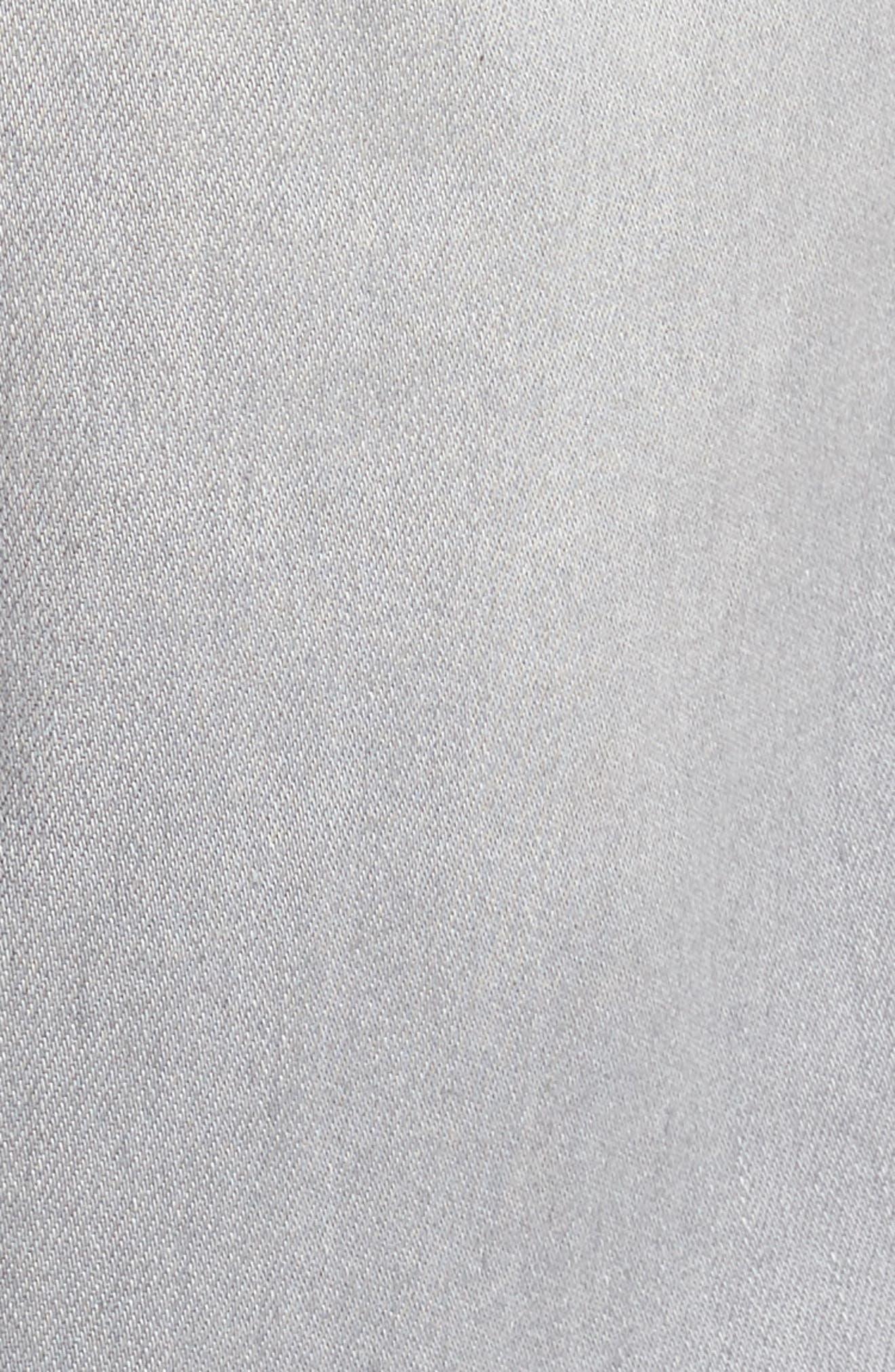 LIVERPOOL, Regent Relaxed Straight Leg Jeans, Alternate thumbnail 5, color, COAL MINE DARK