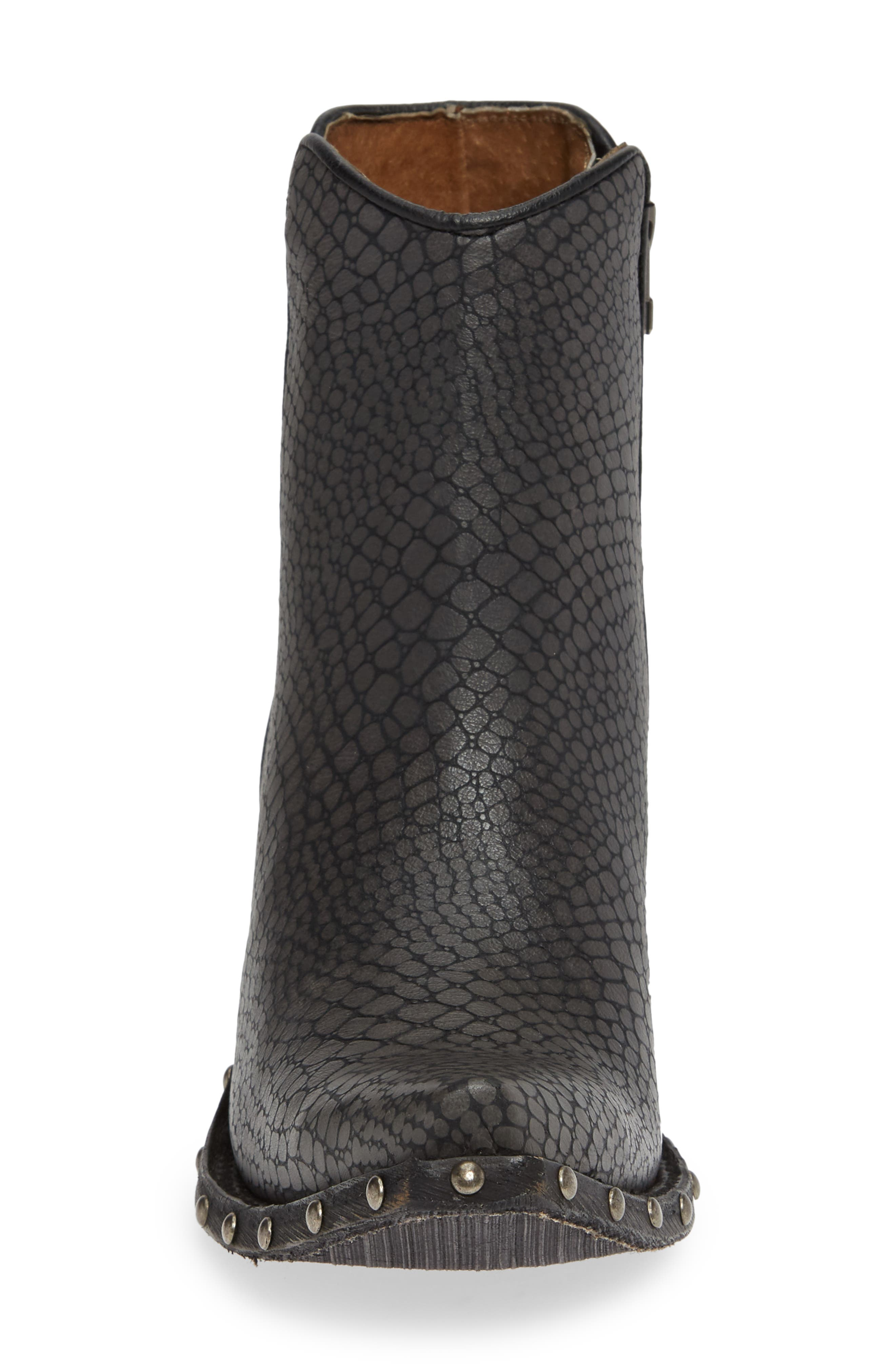 ARIAT, Fenix Western Bootie, Alternate thumbnail 4, color, CHIC GREY CRACKLED TAN LEATHER
