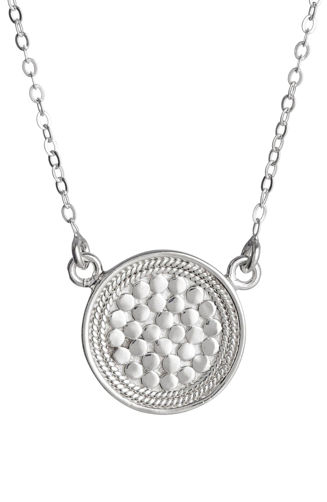 ANNA BECK, Reversible Disc Necklace, Alternate thumbnail 8, color, GOLD/ SILVER