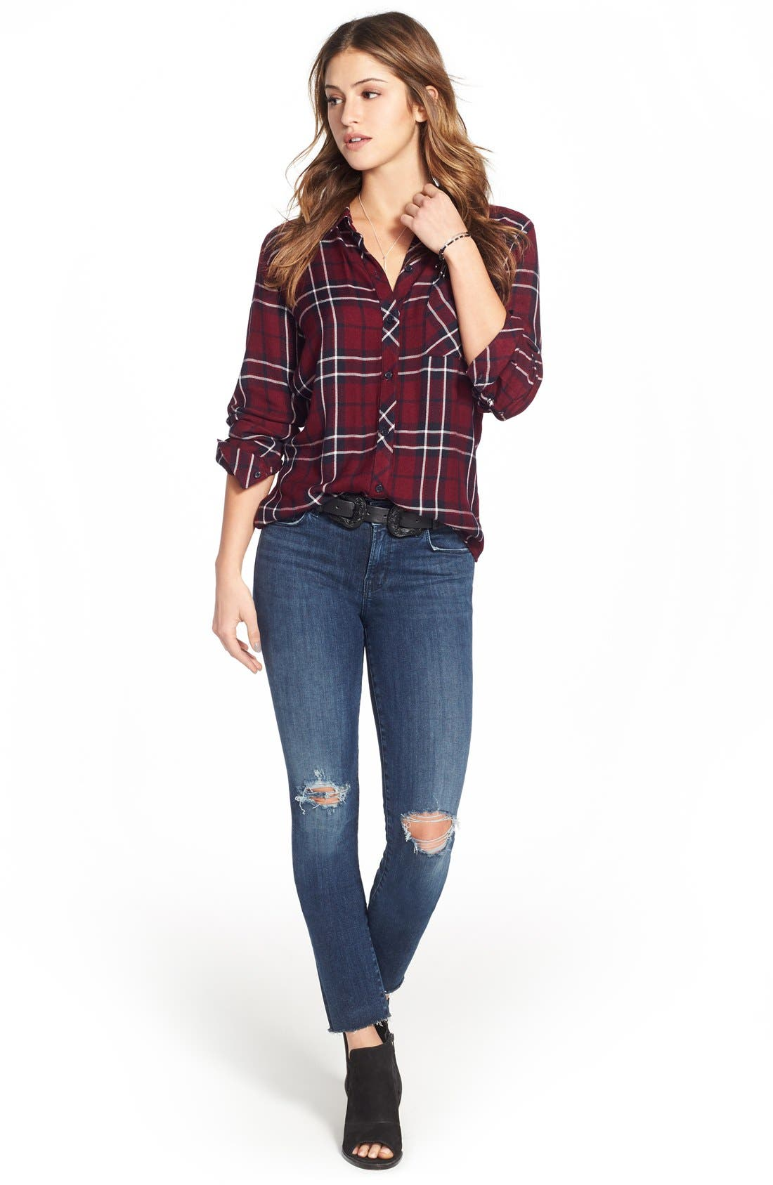 J BRAND, '811' Ankle Skinny Jeans, Alternate thumbnail 3, color, 401