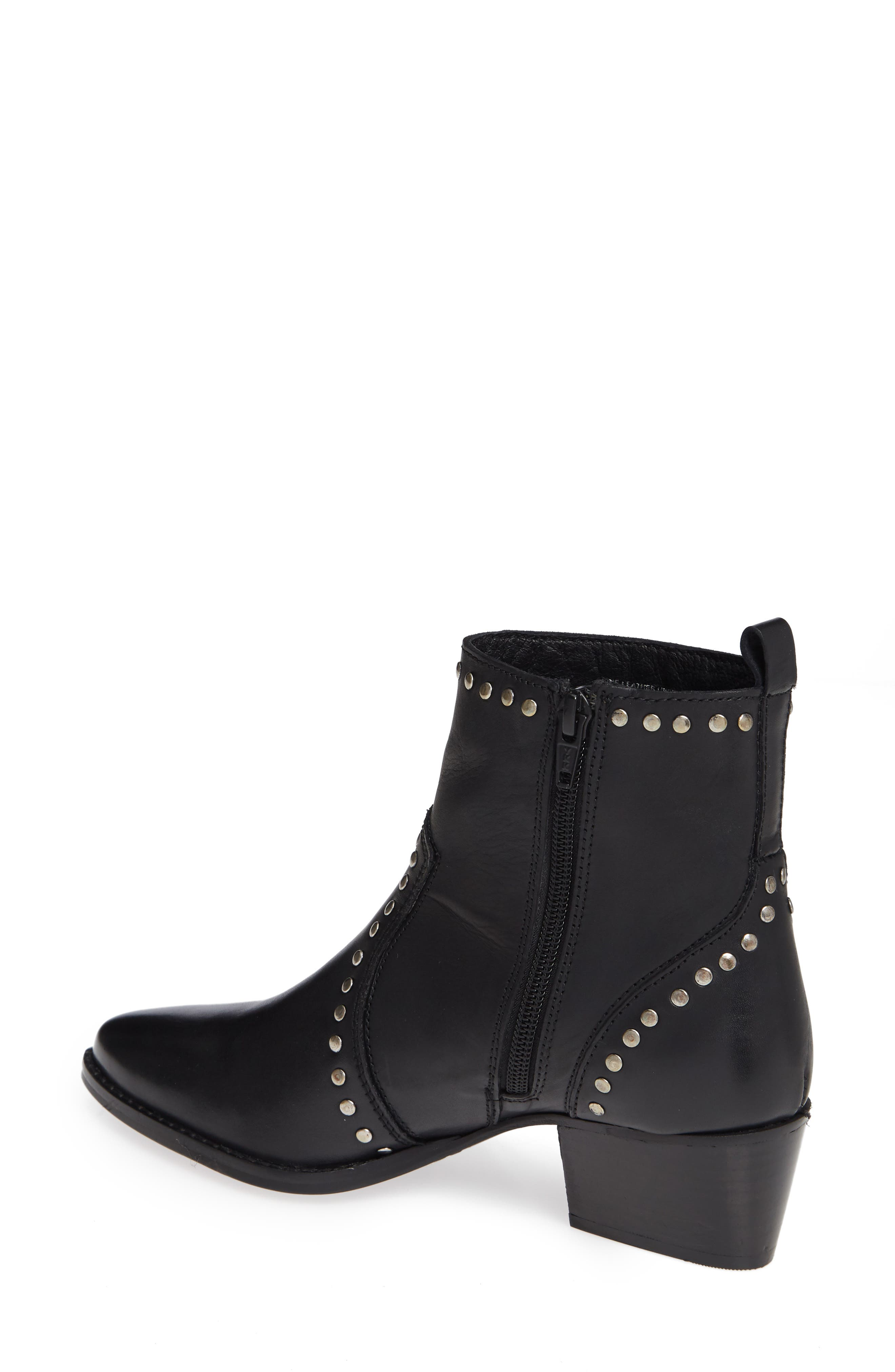 CHARLES BY CHARLES DAVID, Zye Bootie, Alternate thumbnail 2, color, BLACK LEATHER