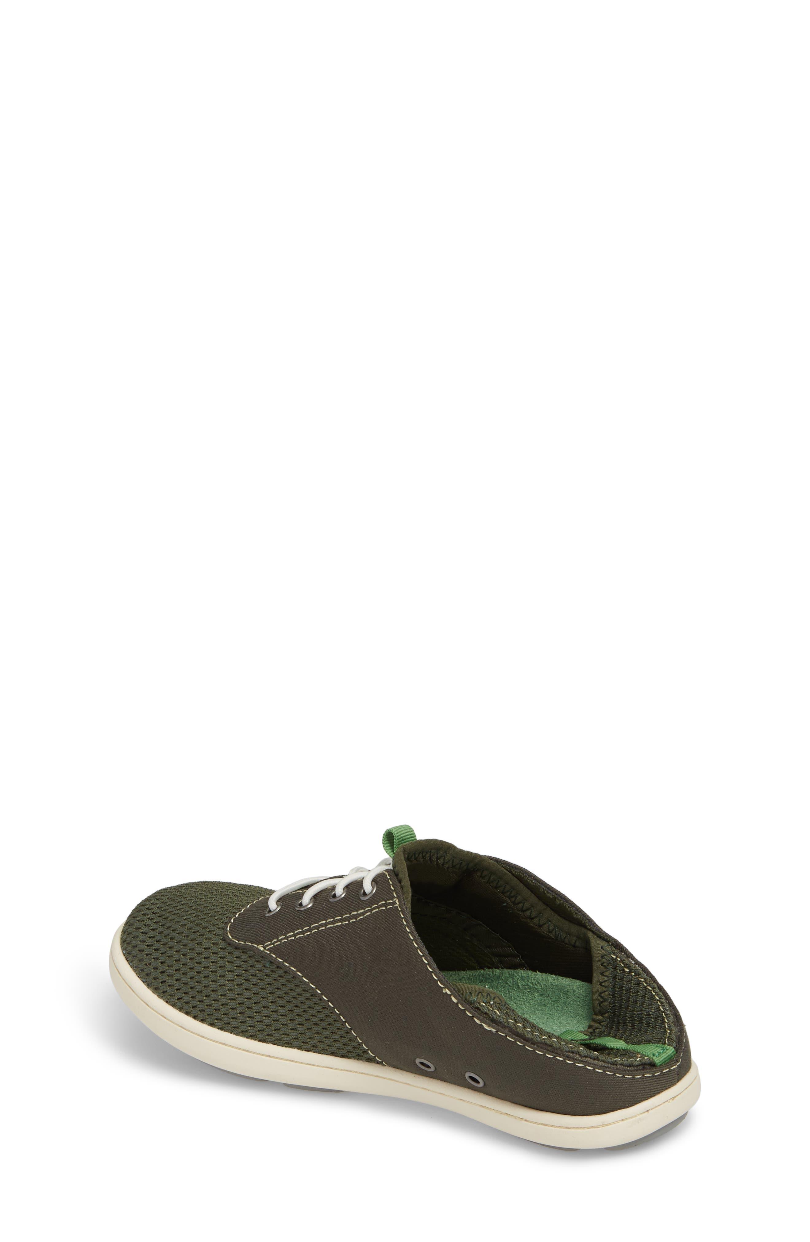OLUKAI, Nohea Moku Water Resistant Shoe, Alternate thumbnail 3, color, SEA GRASS/ SEA GRASS