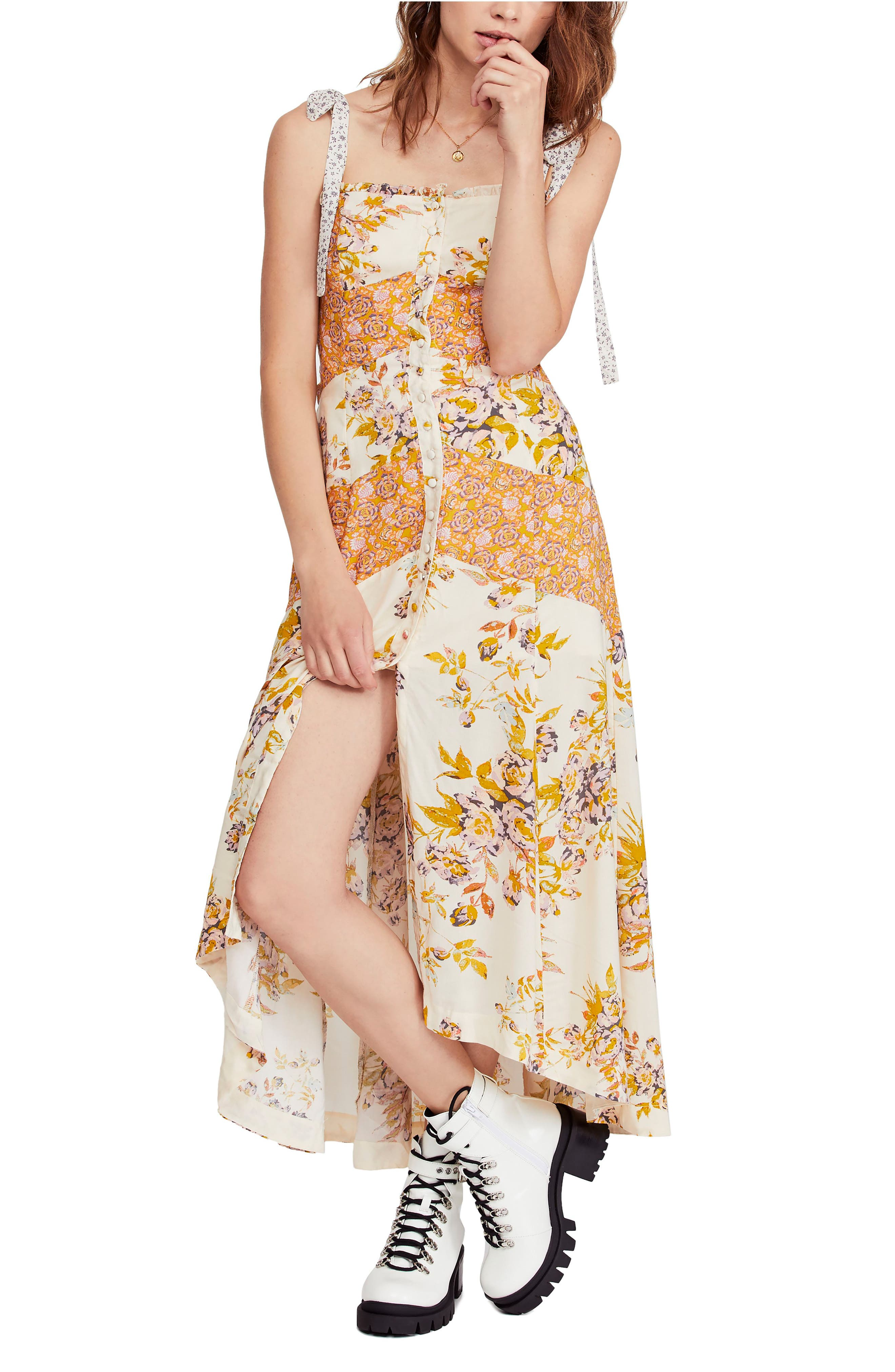 FREE PEOPLE, Lover Boy Maxi Dress, Main thumbnail 1, color, NEUTRAL COMBO