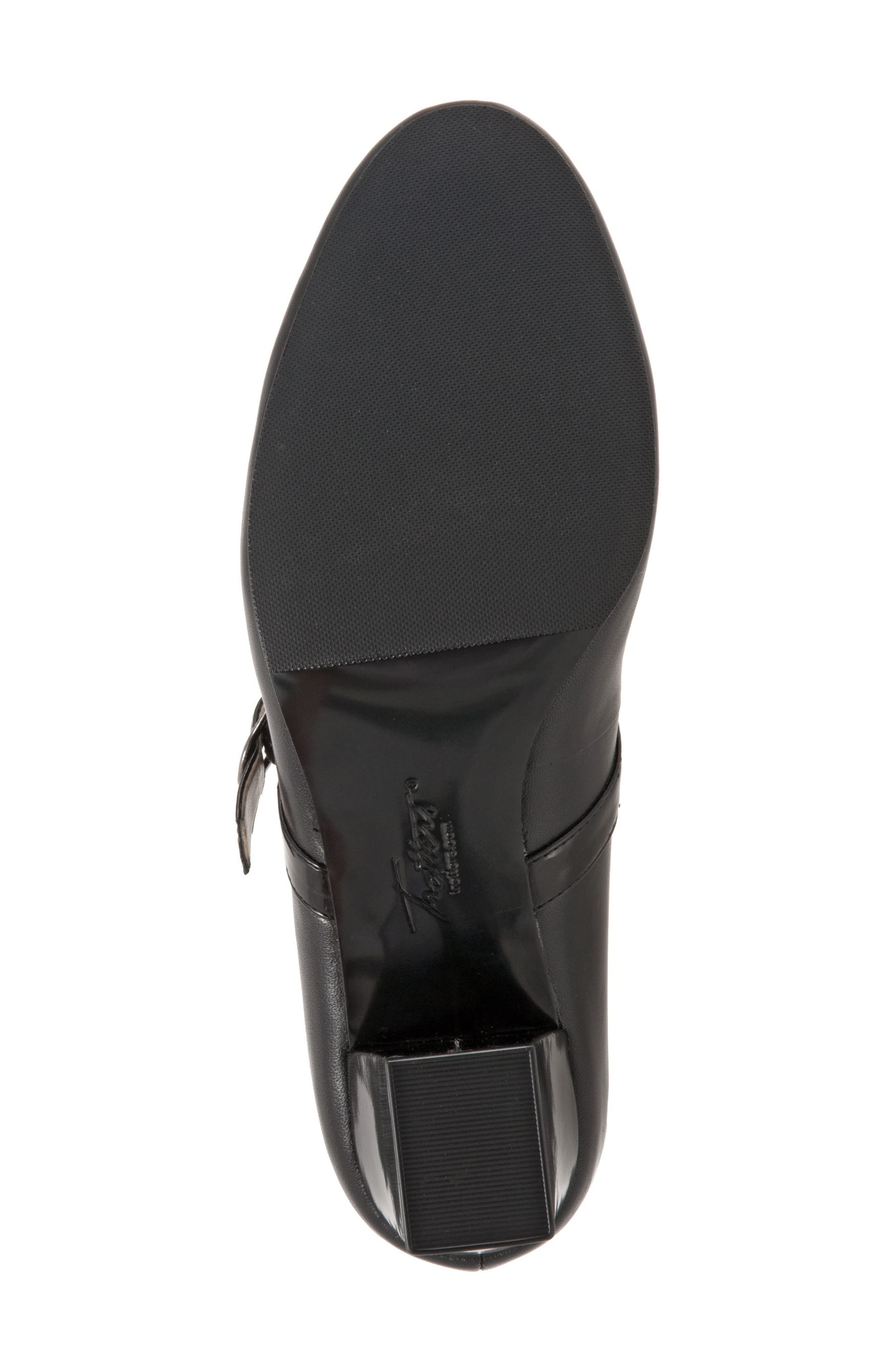 TROTTERS, 'Candice' Mary Jane Pump, Alternate thumbnail 3, color, BLACK LEATHER