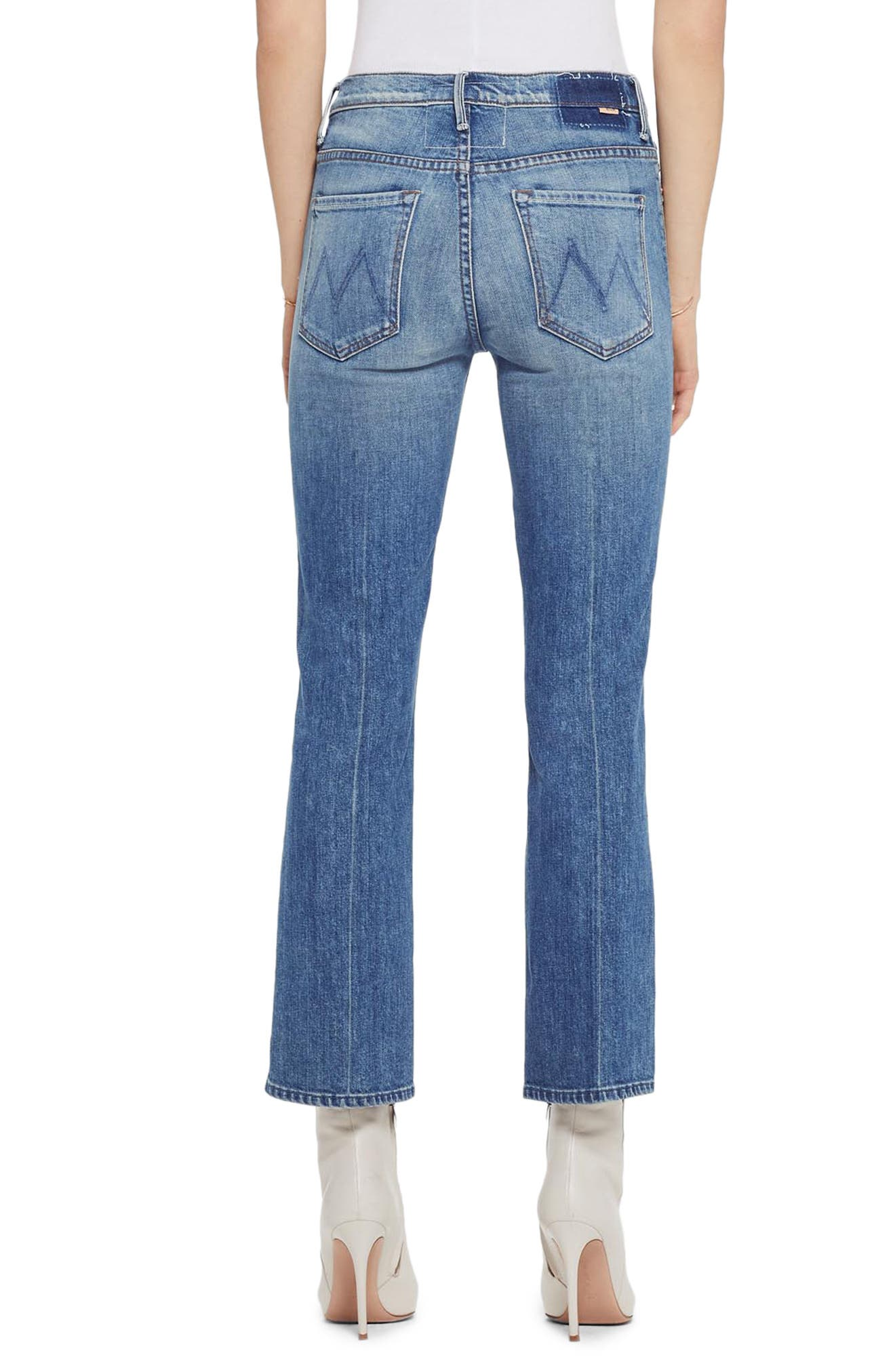 MOTHER, The Insider Ankle Bootcut Jeans, Alternate thumbnail 2, color, 421