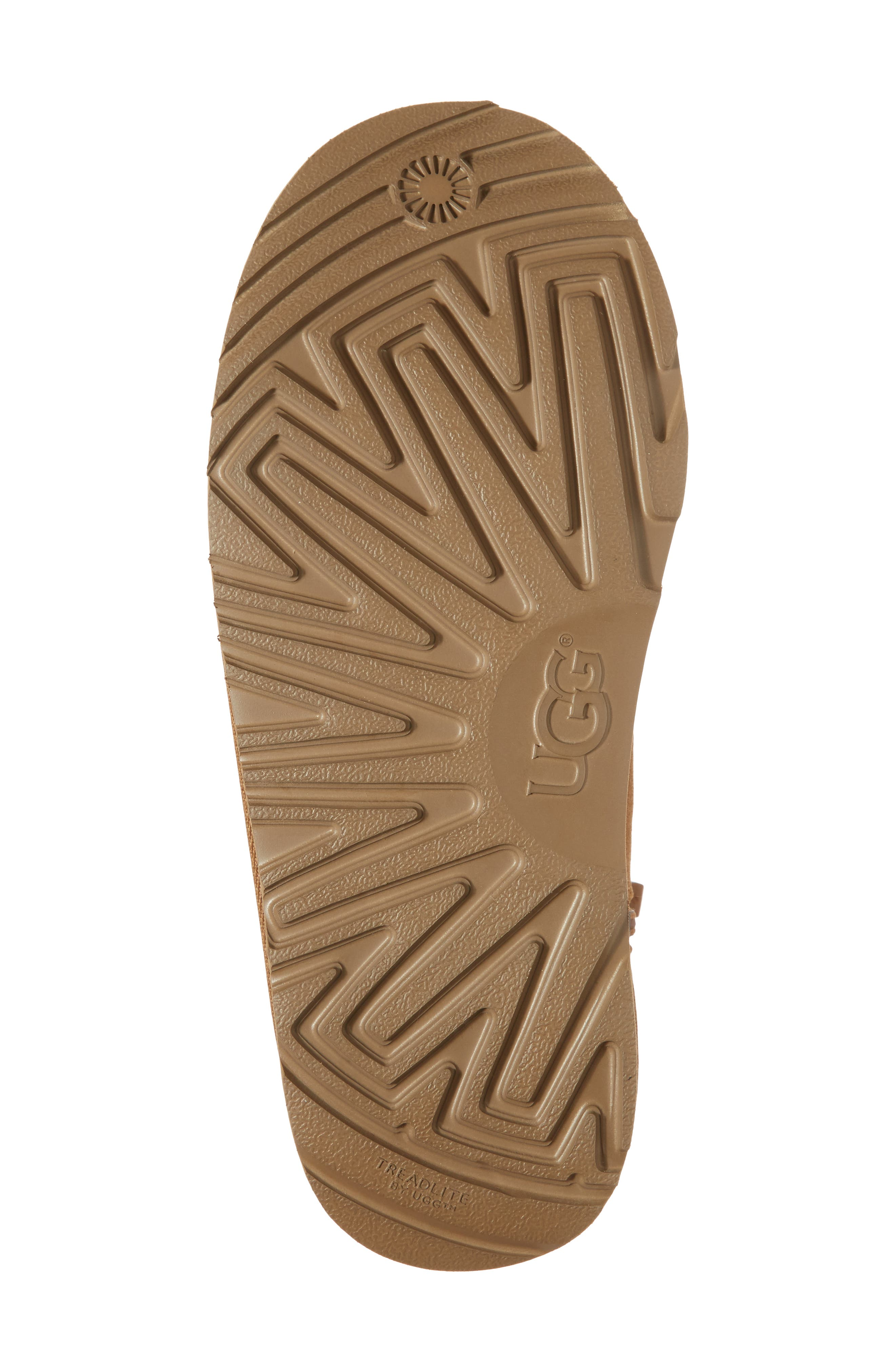 UGG<SUP>®</SUP>, Harkley Lace-Up Boot, Alternate thumbnail 6, color, CHESTNUT