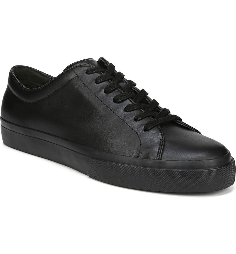 Vince Men's Farrell Maddox Leather Low-top Sneakers In Black/ Black