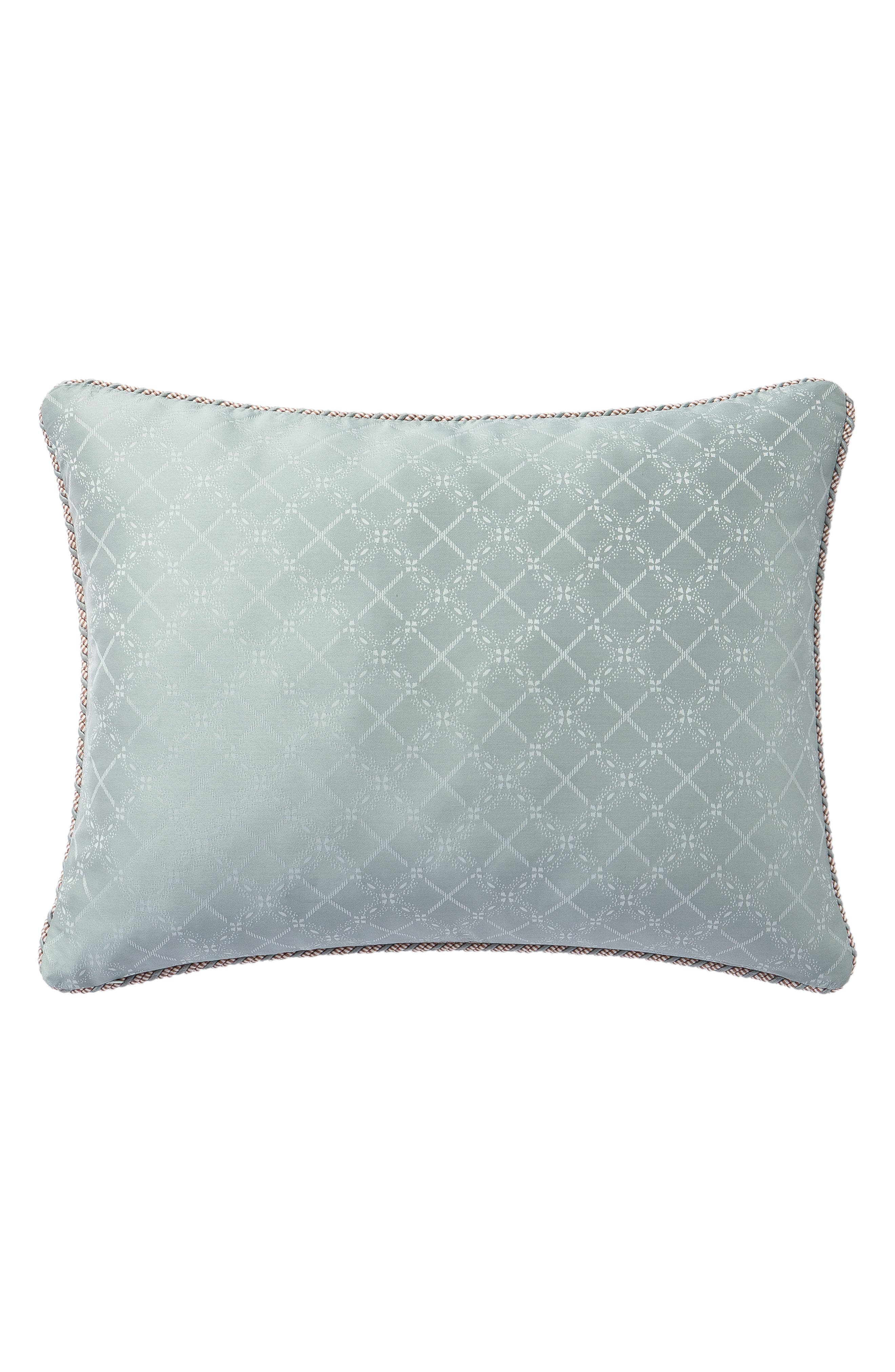 WATERFORD, Gwyneth Reversible Comforter, Sham & Bedskirt Set, Alternate thumbnail 3, color, PALE BLUE