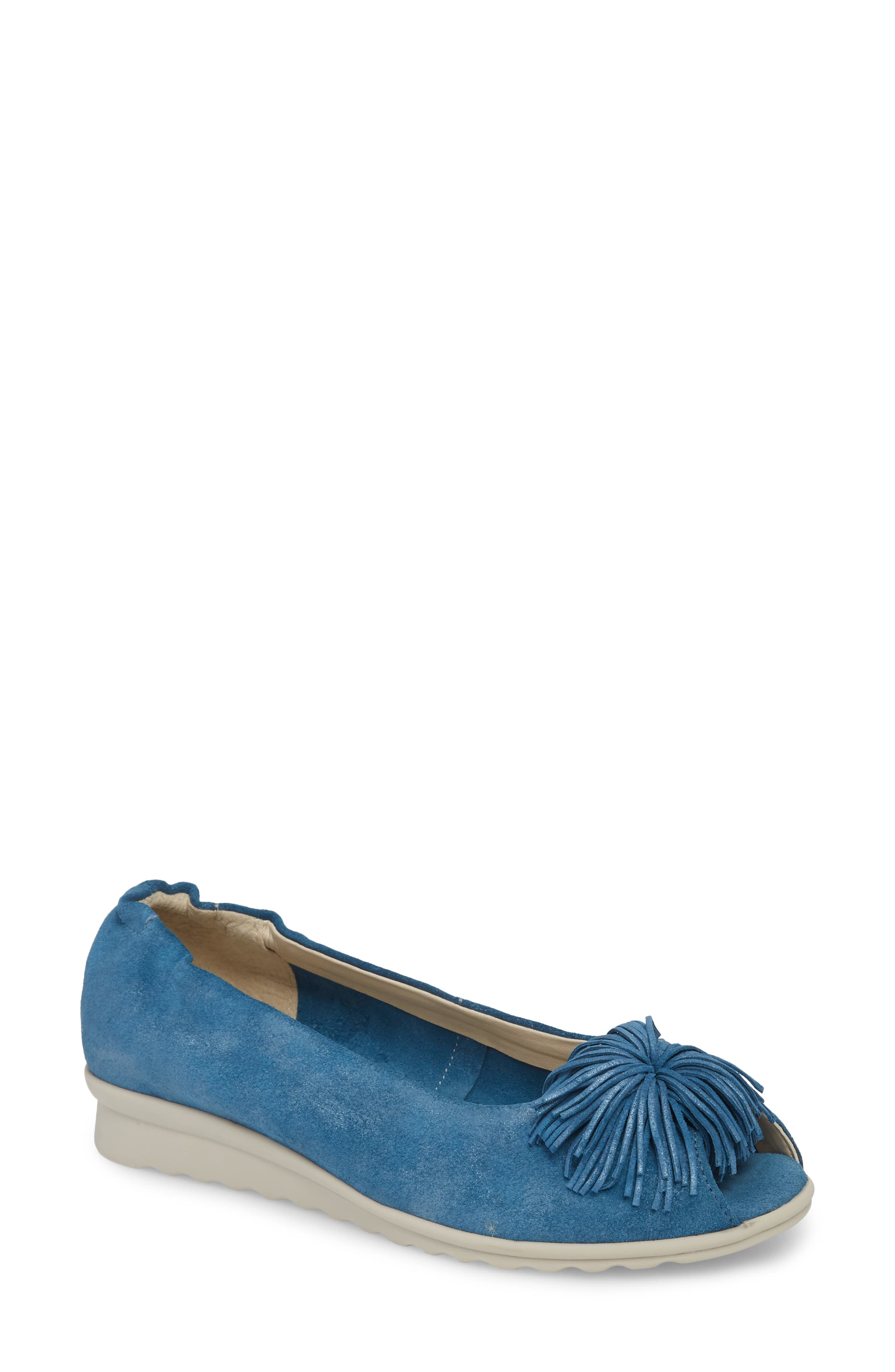The Flexx Boco Loco Peeptoe Flat- Blue