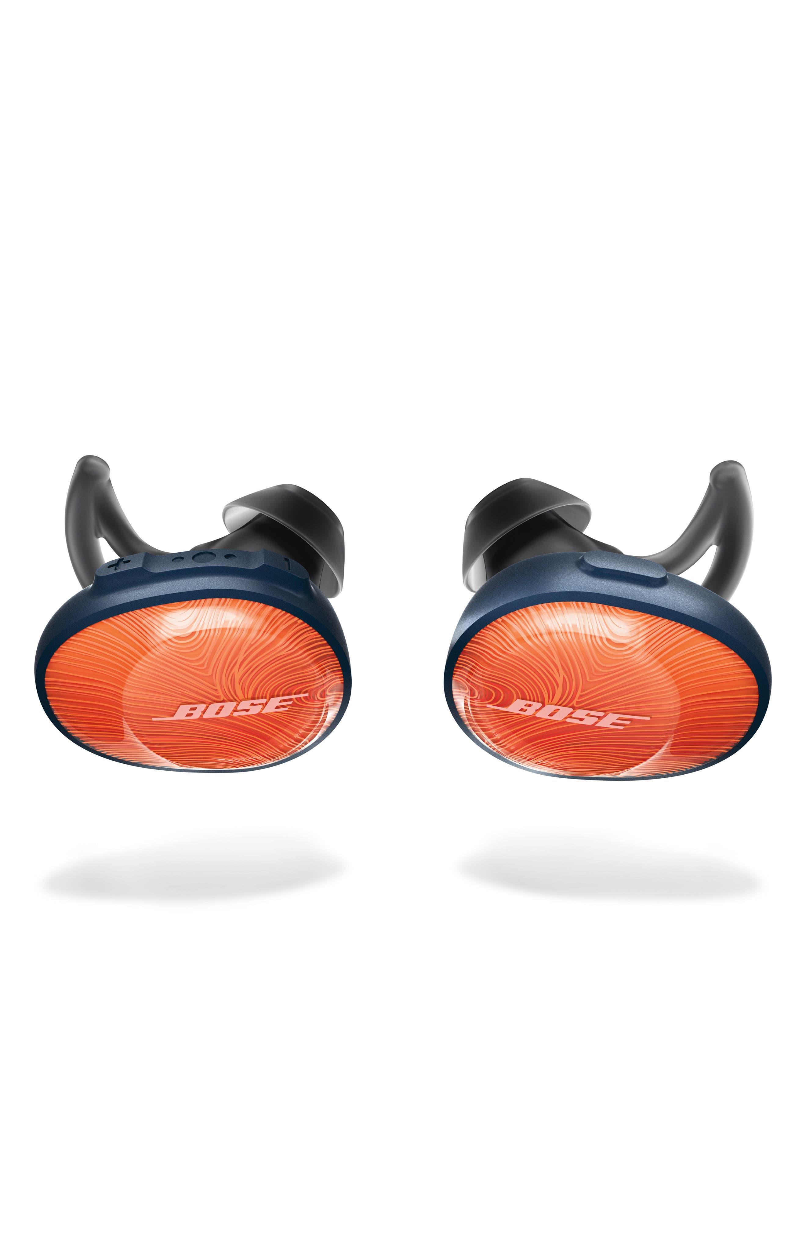BOSE<SUP>®</SUP>, SoundSport<sup>®</sup> Free Wireless Headphones, Main thumbnail 1, color, ORANGE