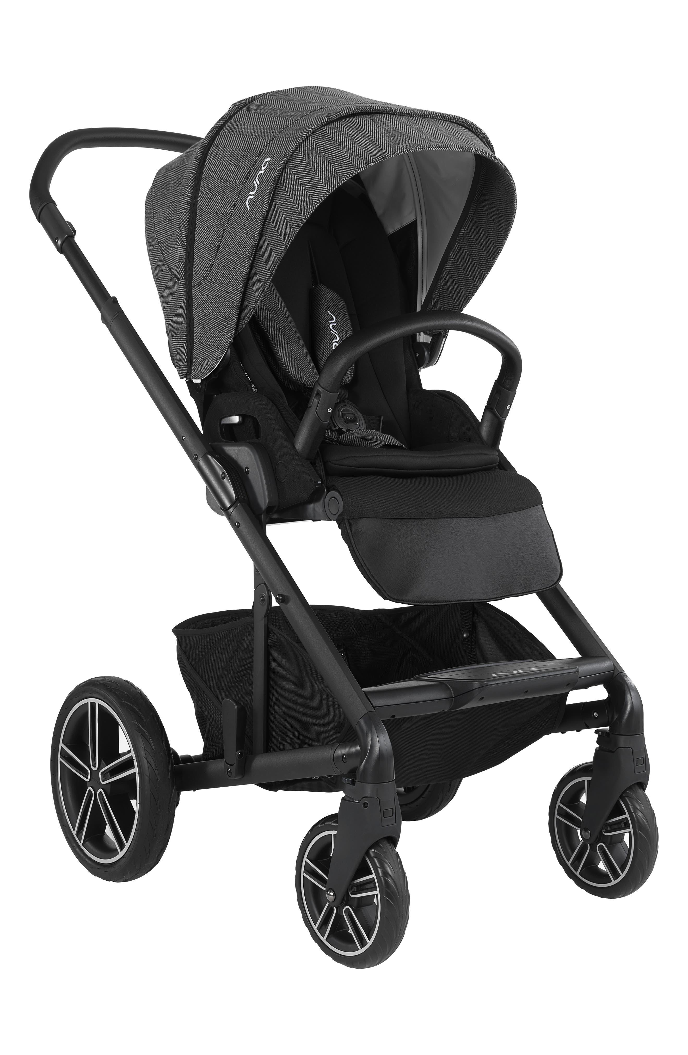 NUNA, 2019 MIXX<sup>™</sup> Stroller & PIPA<sup>™</sup> Lite LX Infant Car Seat Set Travel System, Alternate thumbnail 11, color, VERONA CAVIAR