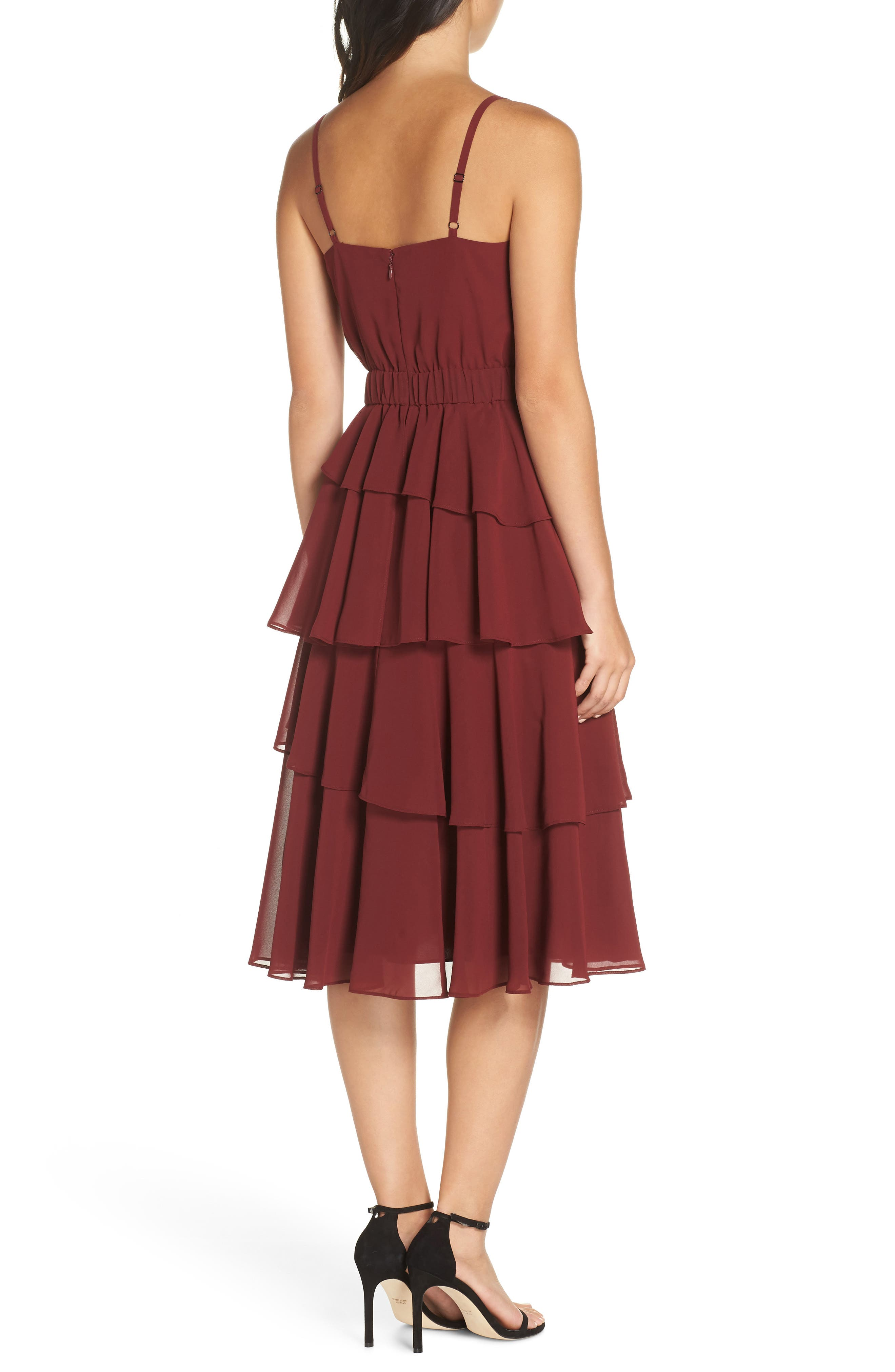 ALI & JAY, Love Is All Around Ruffle Tiered Dress, Alternate thumbnail 2, color, 939