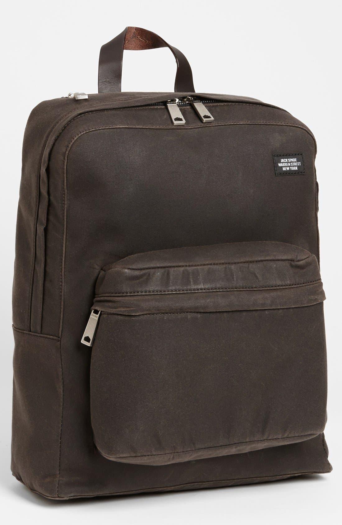 JACK SPADE, 'Waxwear' Backpack, Main thumbnail 1, color, 215