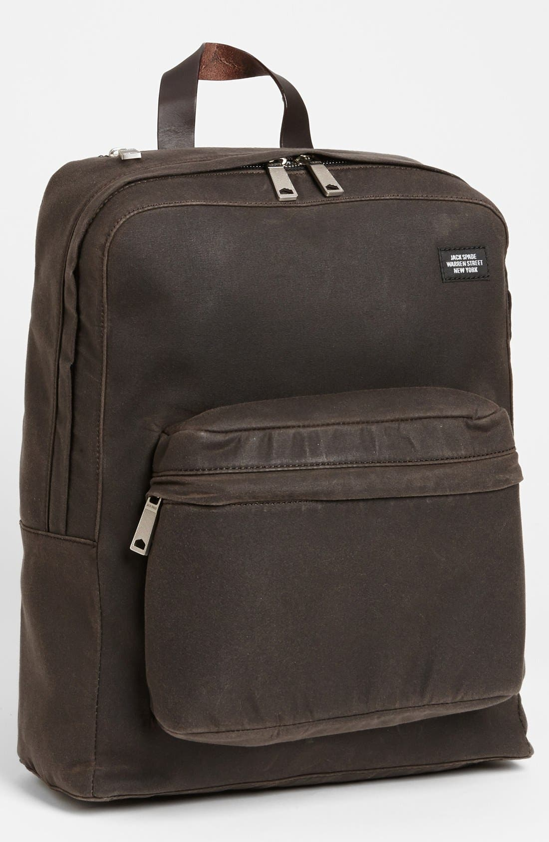 JACK SPADE 'Waxwear' Backpack, Main, color, 215