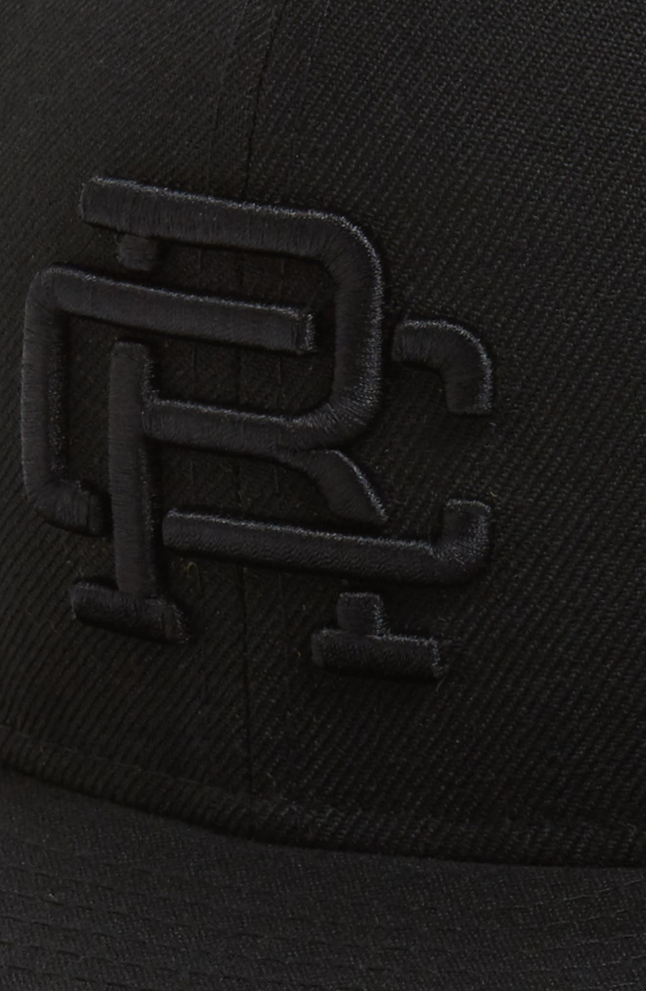 REIGNING CHAMP, New Era Fitted Baseball Cap, Alternate thumbnail 3, color, BLACK / BLACK