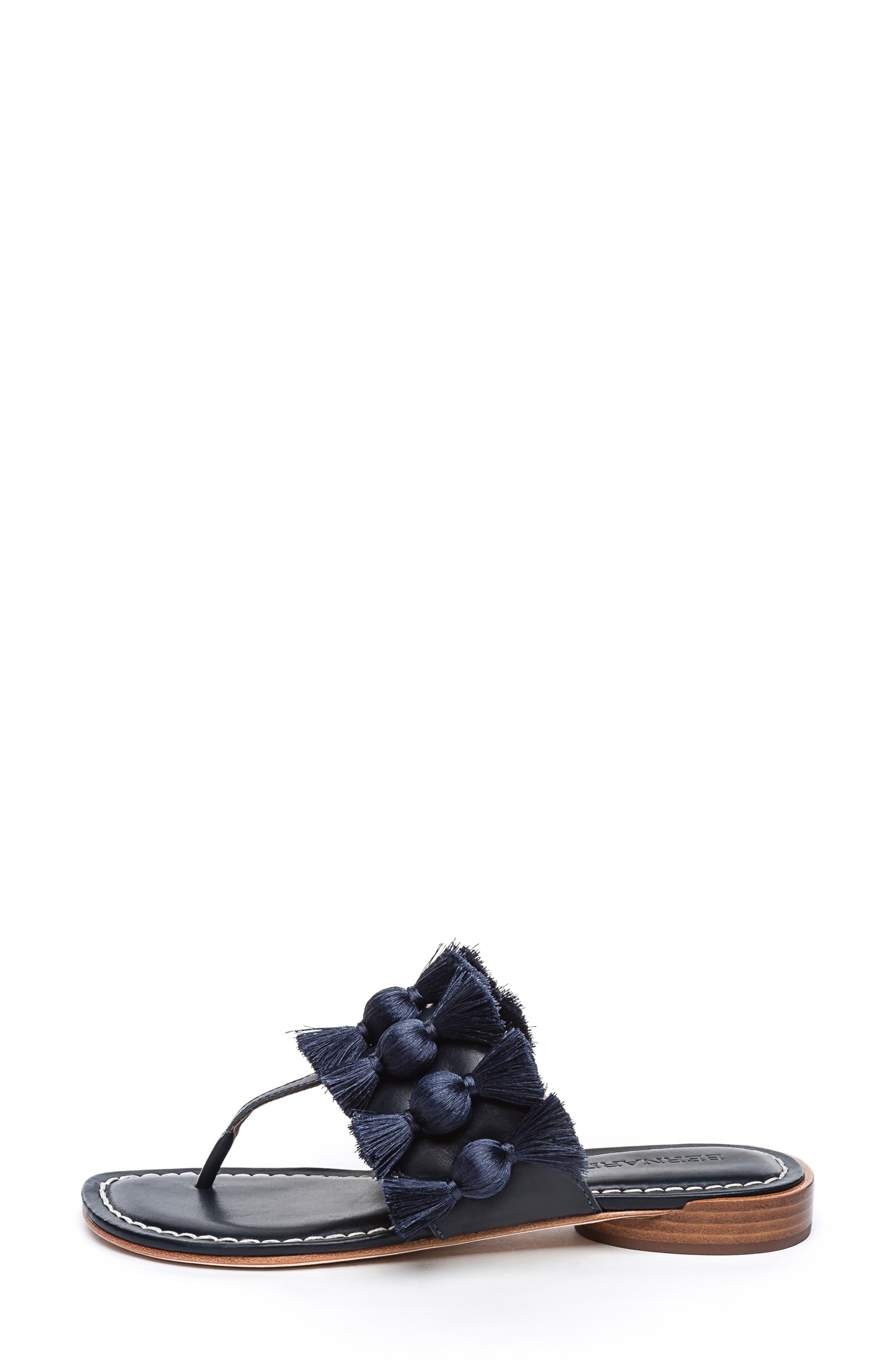 BERNARDO, Footwear Tara Flip Flop, Alternate thumbnail 3, color, NAVY ANTIQUE LEATHER