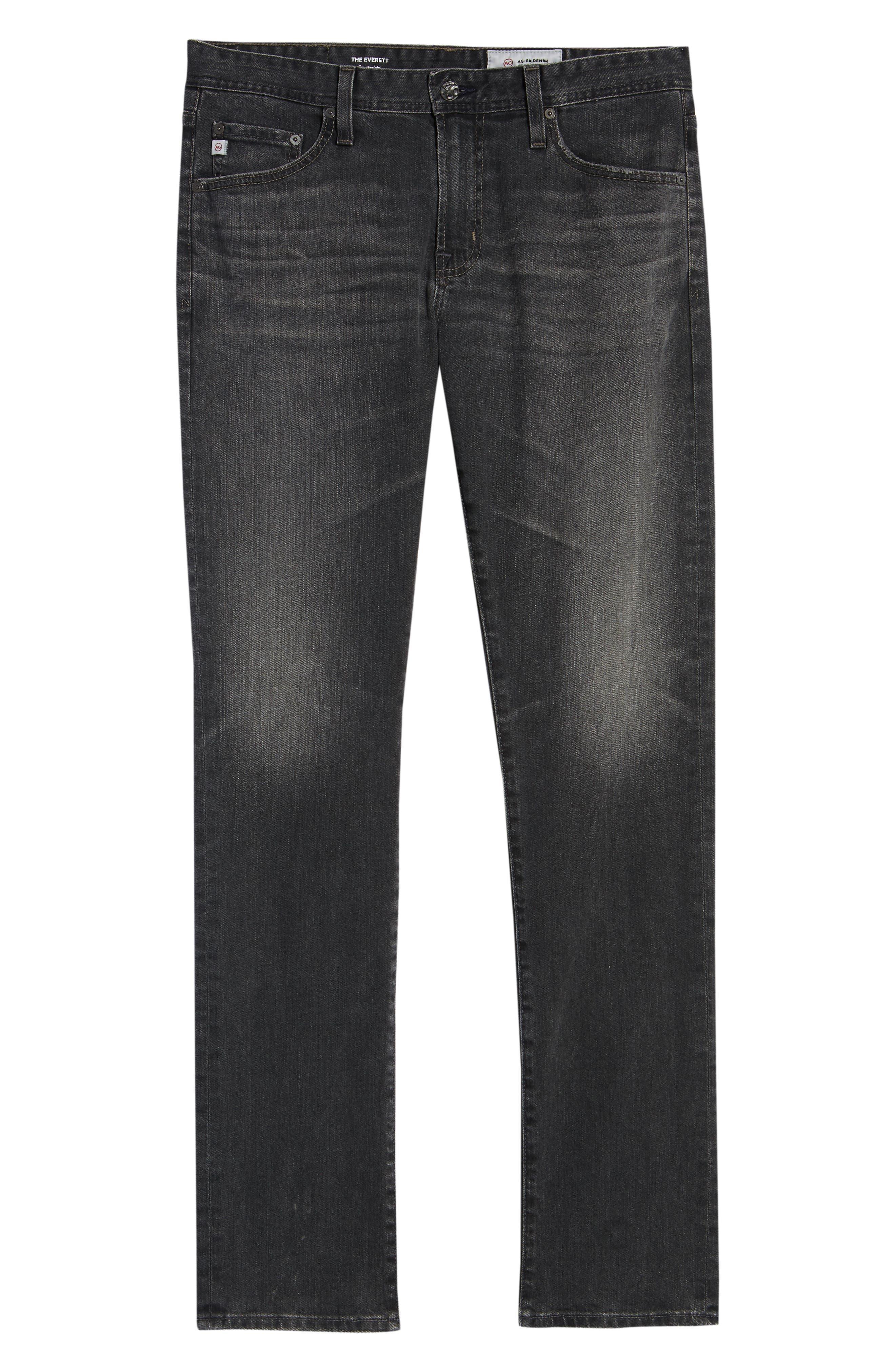 AG, Everett Slim Straight Leg Jeans, Alternate thumbnail 7, color, 6 YEARS ARCADE