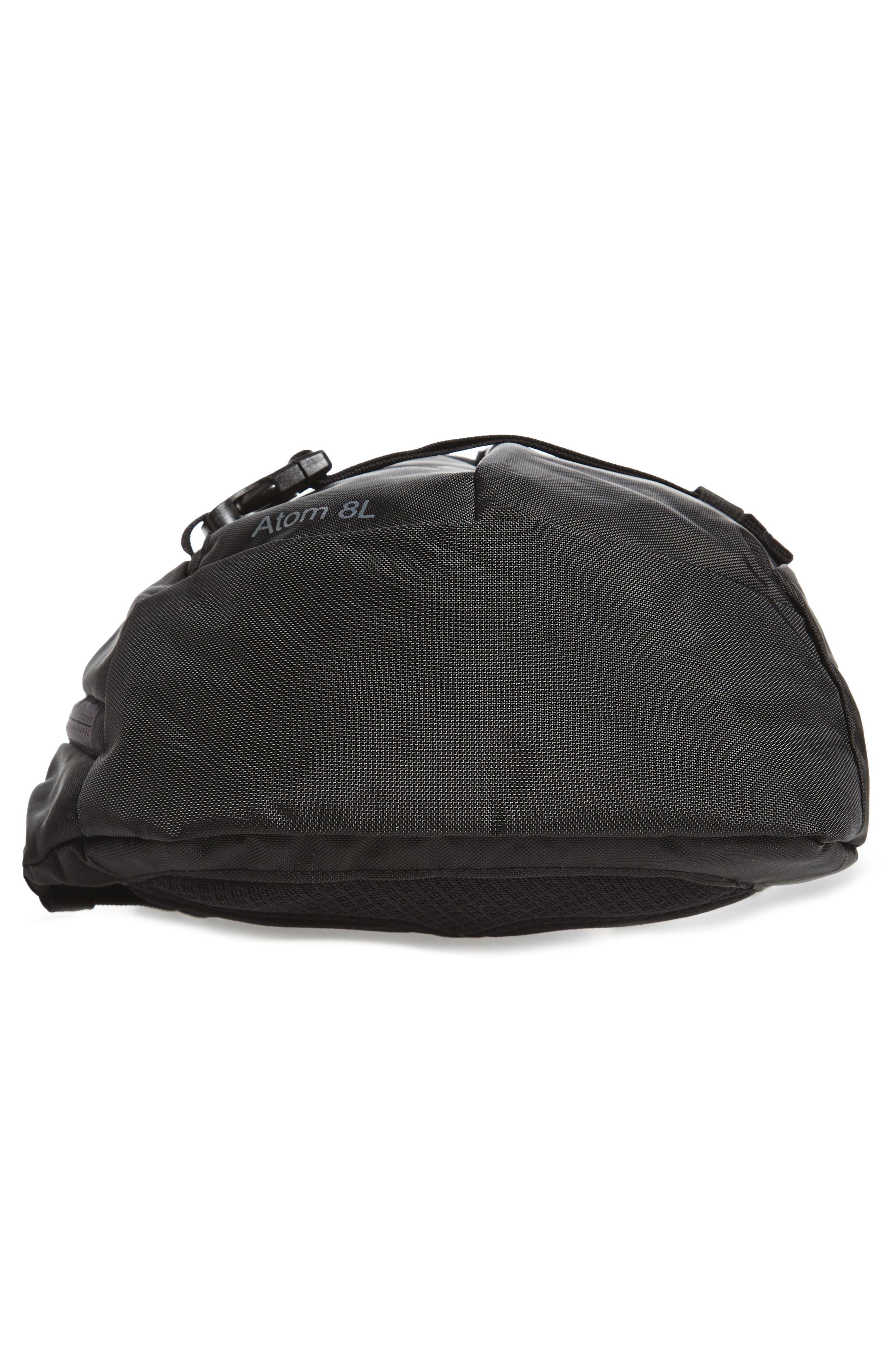 PATAGONIA, Atom 8L Sling Backpack, Alternate thumbnail 7, color, BLACK