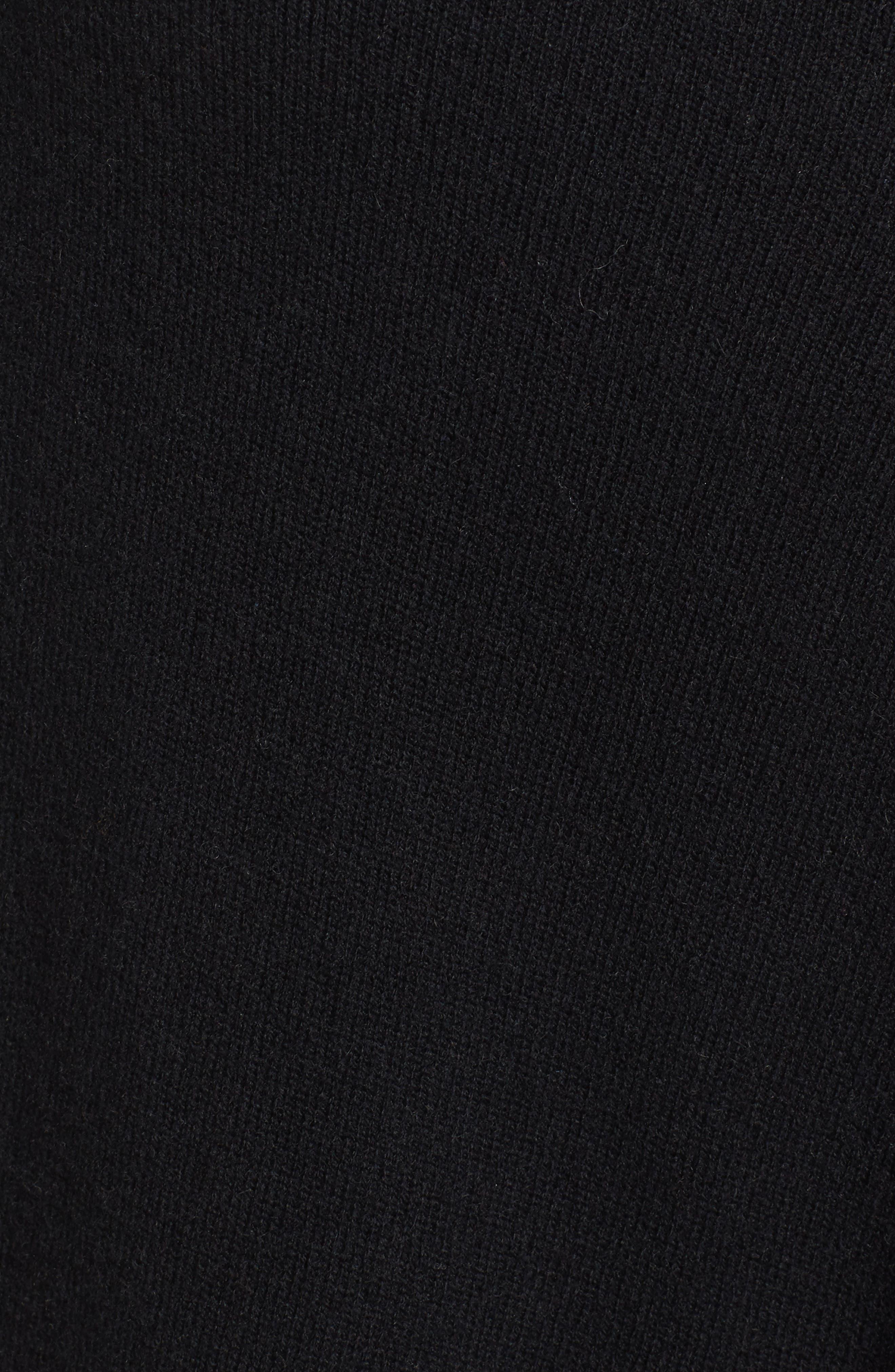 HALOGEN<SUP>®</SUP>, Wool & Cashmere Drape Front Sweater Vest, Alternate thumbnail 5, color, BLACK