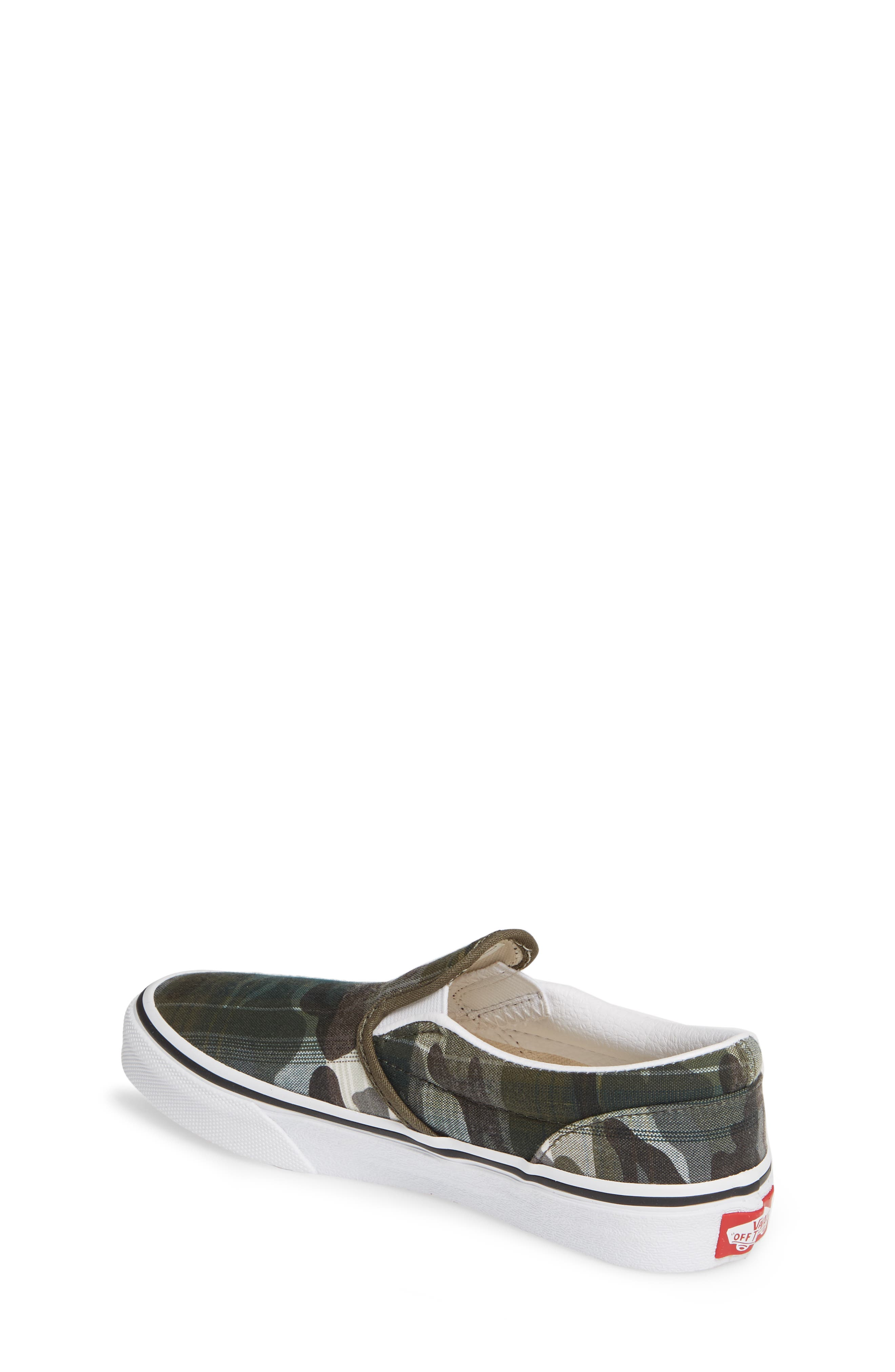 VANS, 'Classic' Slip-On, Alternate thumbnail 2, color, PLAID CAMO GRAPE LEAF/ WHITE
