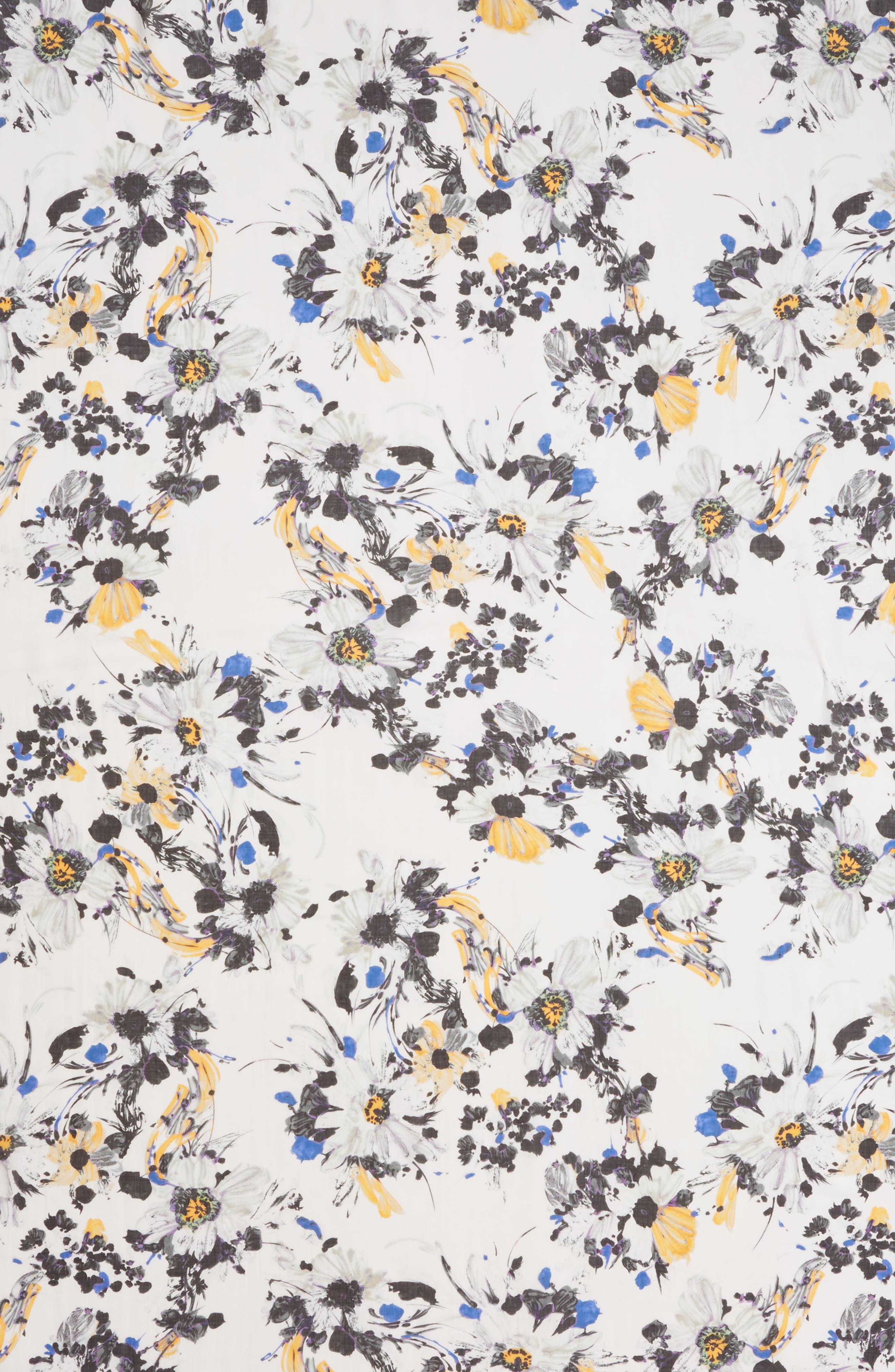 ALLSAINTS, Floral Modal Scarf, Alternate thumbnail 4, color, PORCELAIN