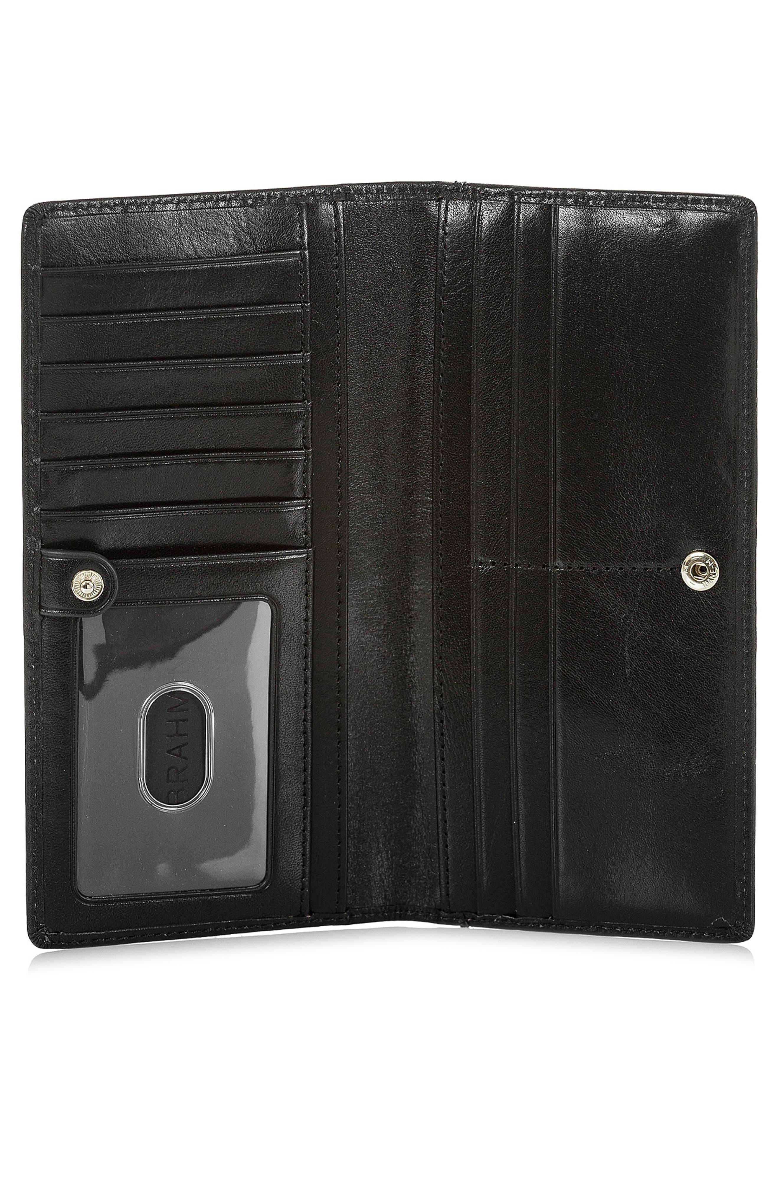 BRAHMIN, Ady Leather Wallet, Alternate thumbnail 2, color, 001
