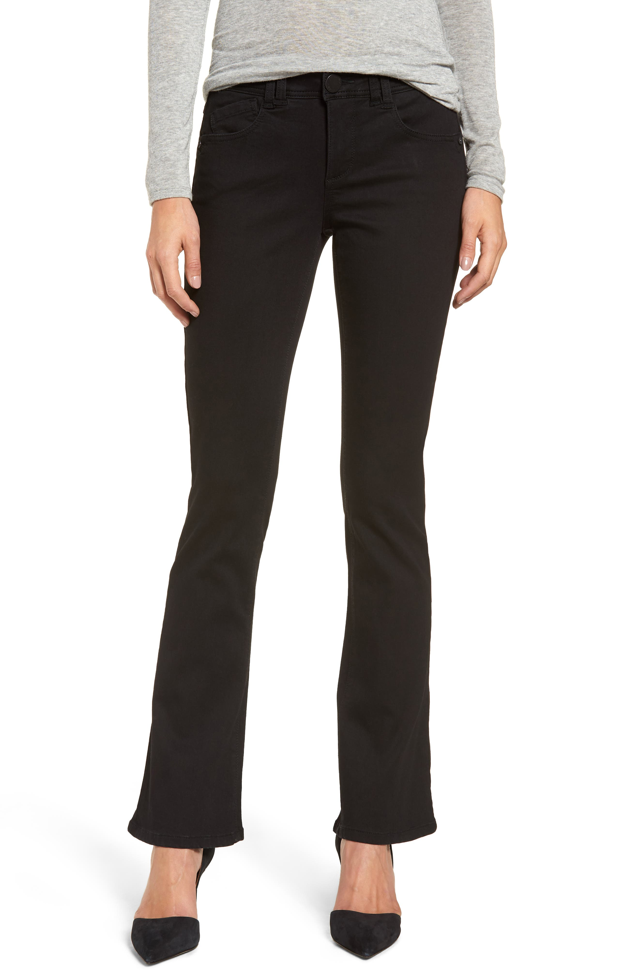 WIT & WISDOM, Ab-solution Itty Bitty Bootcut Jeans, Main thumbnail 1, color, BLACK
