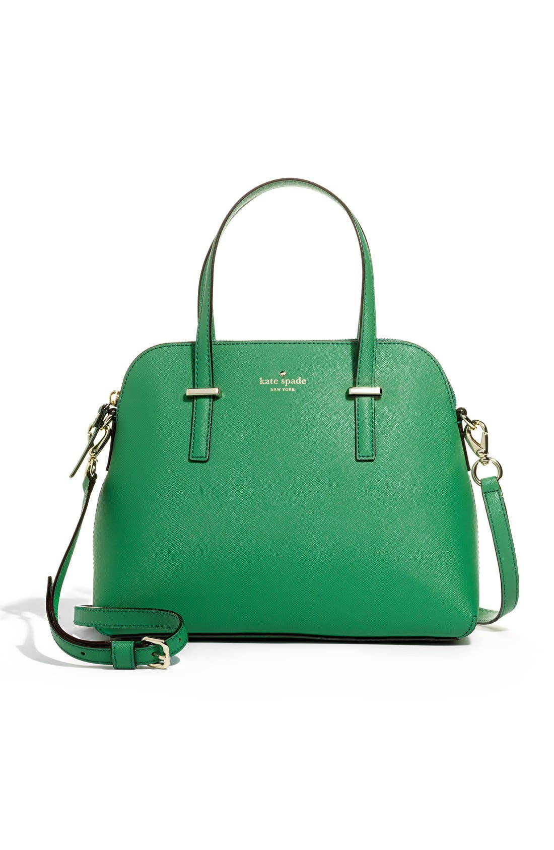 KATE SPADE NEW YORK, 'cedar street - maise' leather satchel, Alternate thumbnail 2, color, 075