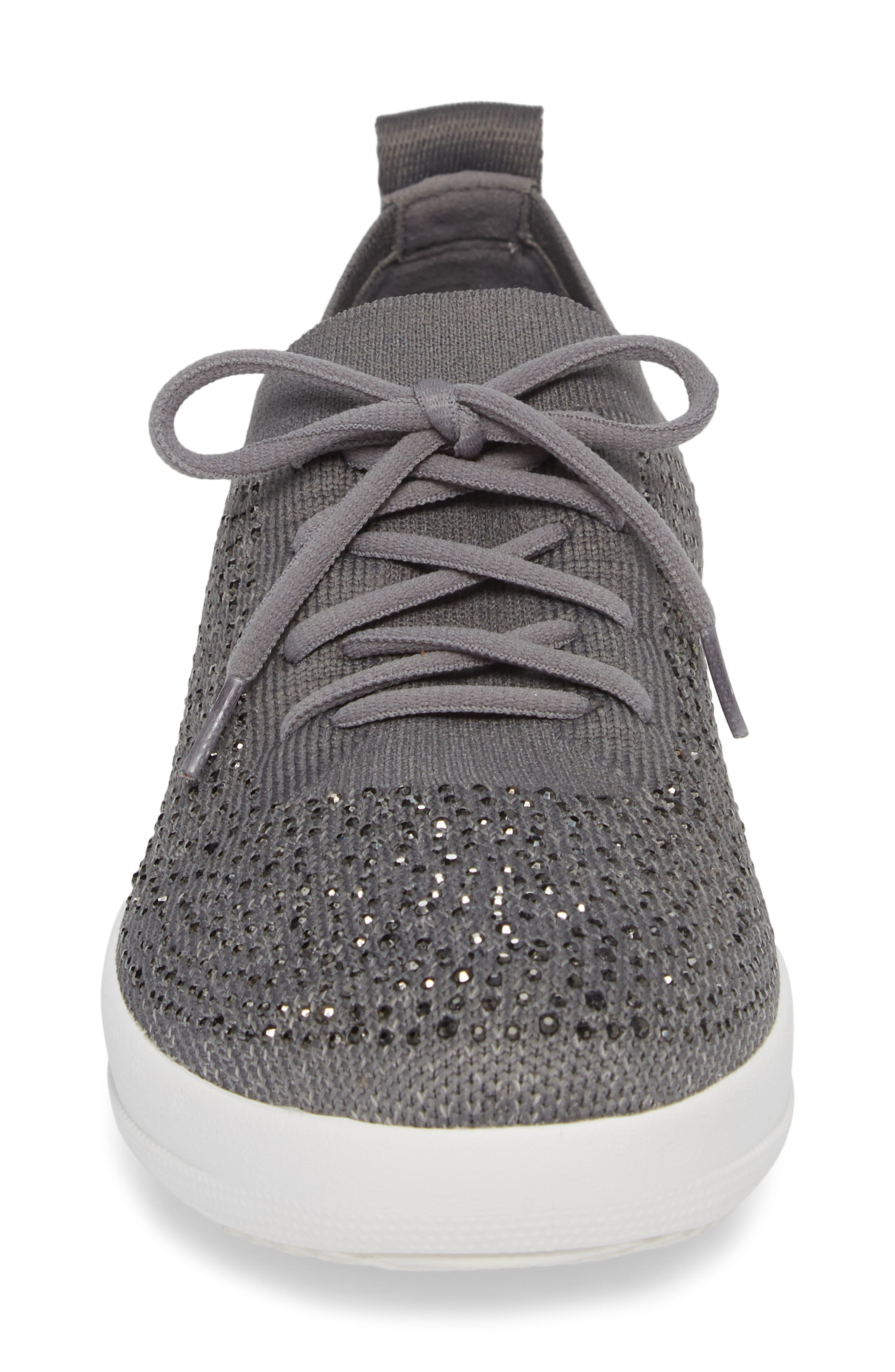 FITFLOP, Uberknit<sup>™</sup> F-Sporty Sneaker, Alternate thumbnail 4, color, CHARCOAL/ DUSTY GREY