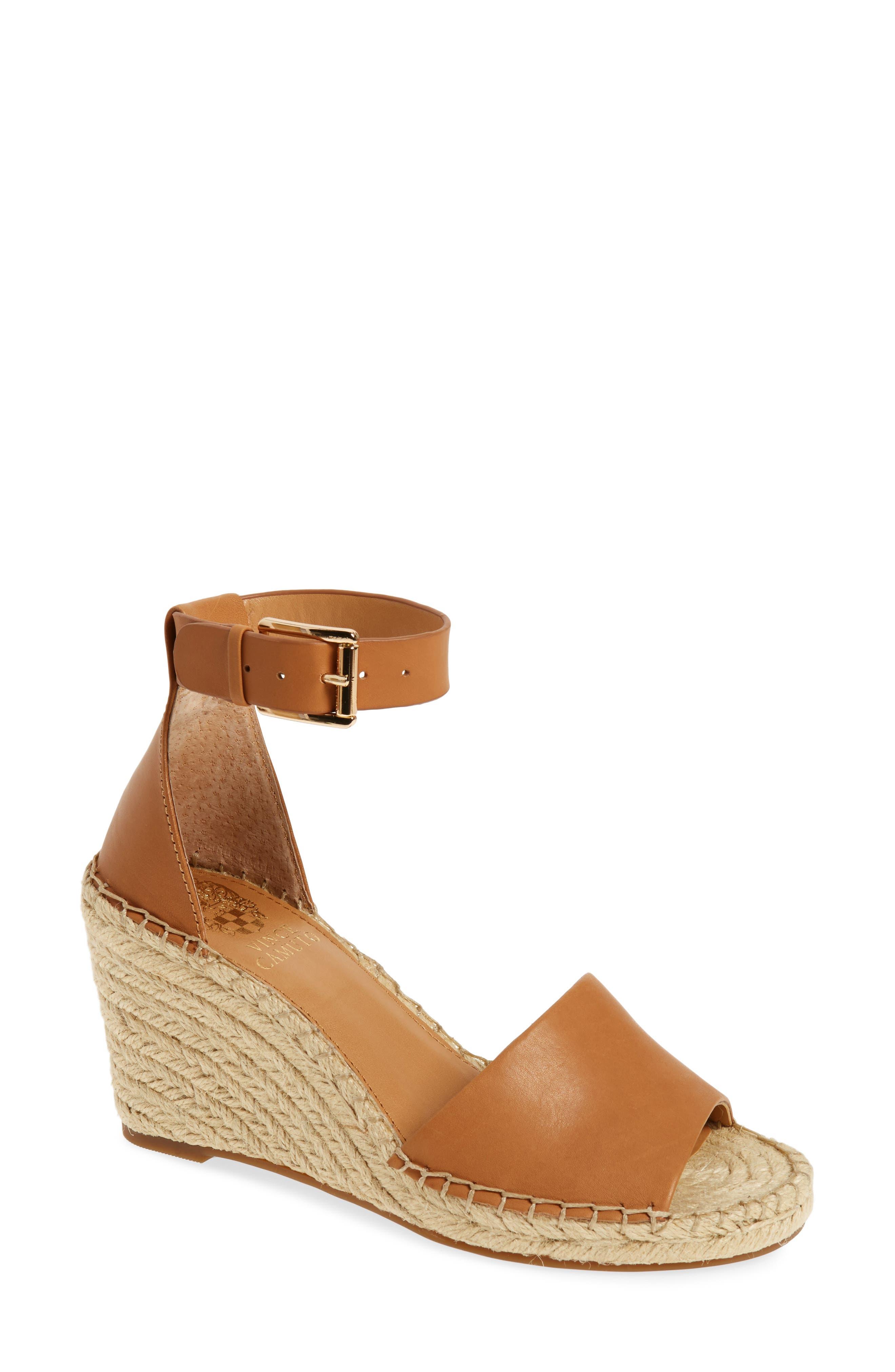 VINCE CAMUTO Leera Wedge Sandal, Main, color, TAN
