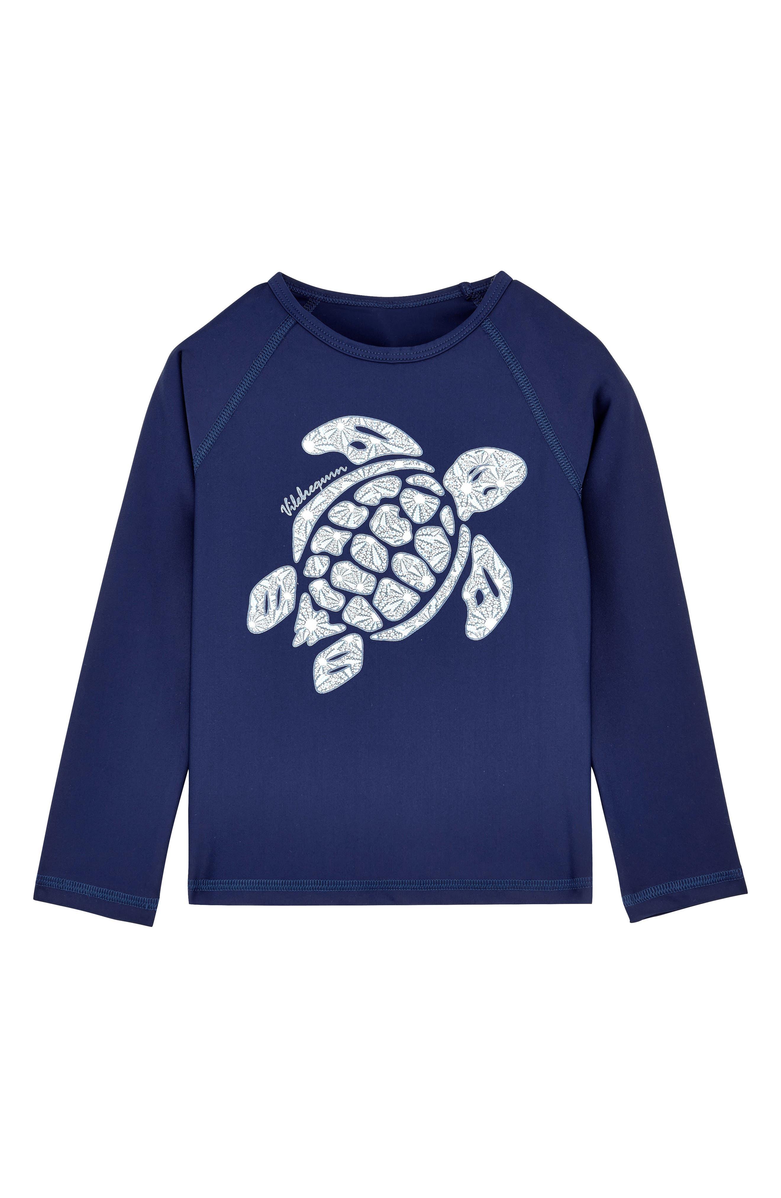 VILEBREQUIN, Turtle Rashguard, Main thumbnail 1, color, BLEU MARINE