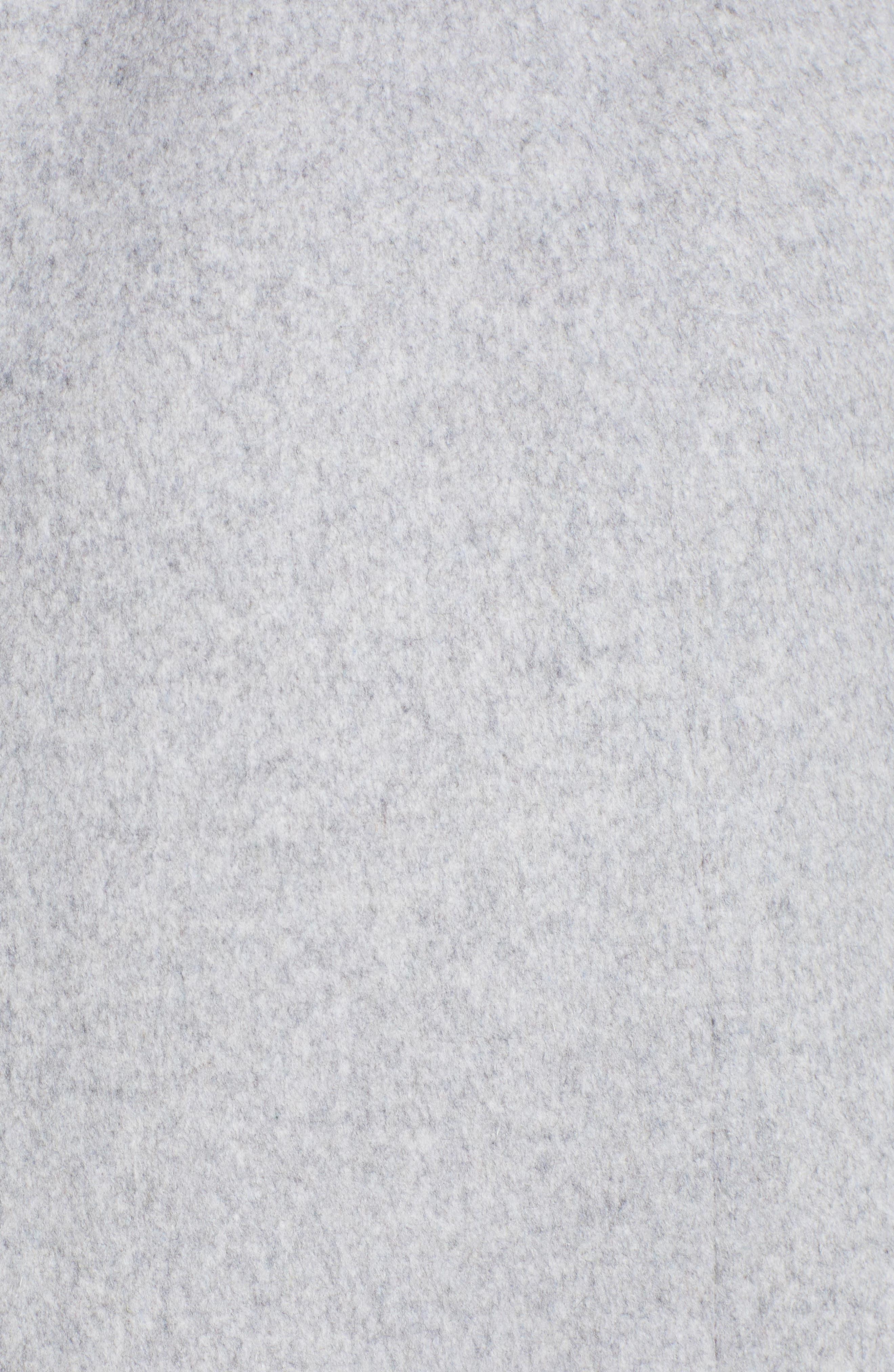 MACKAGE, Nori Belted Wool Blend Coat, Alternate thumbnail 7, color, LIGHT GREY