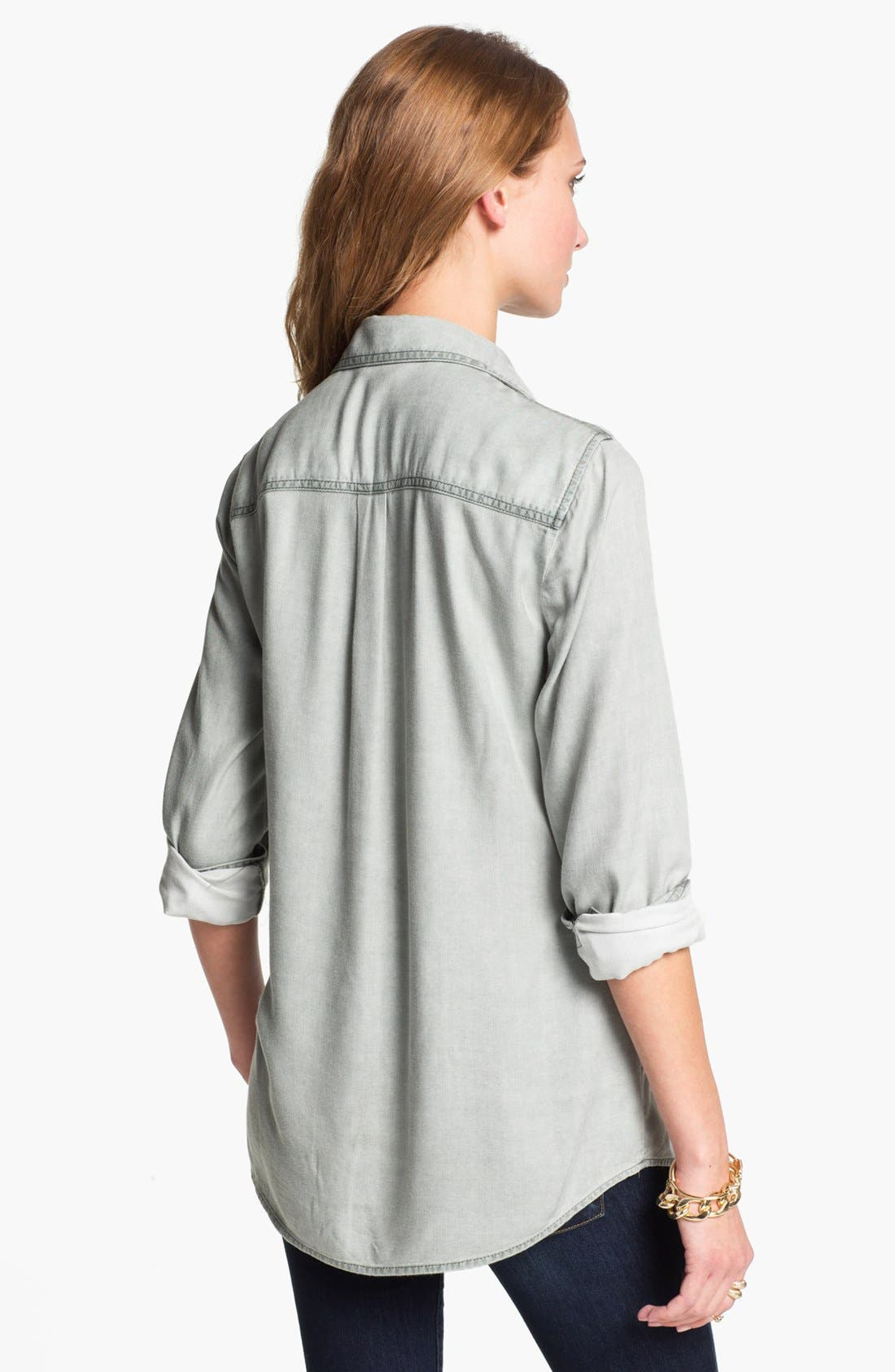 RUBBISH<SUP>®</SUP>, Rubbish Oversized Menswear Shirt, Alternate thumbnail 2, color, 021