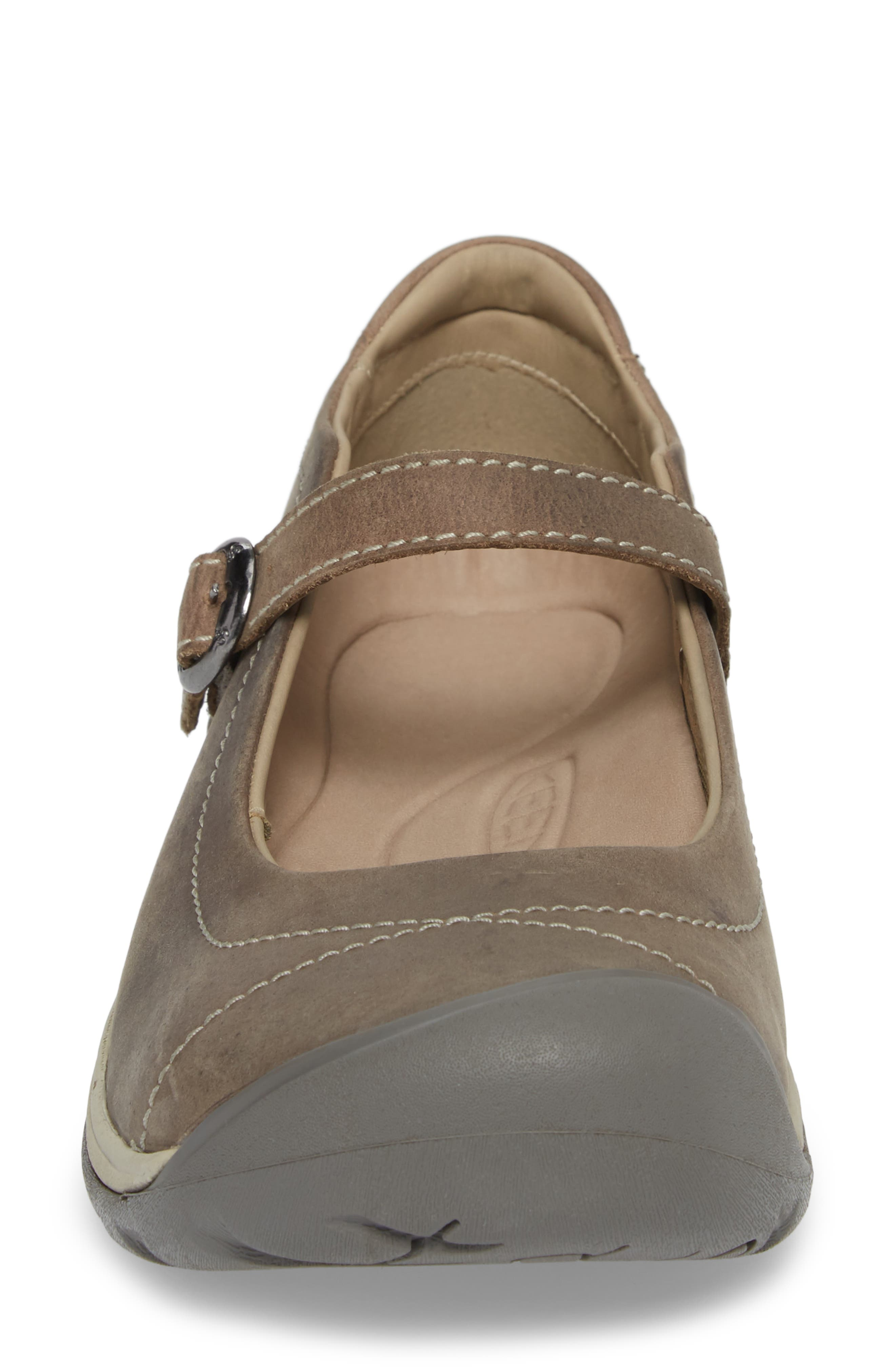 KEEN, Presidio II Mary Jane Flat, Alternate thumbnail 4, color, PALOMA/ SILVER BIRCH LEATHER