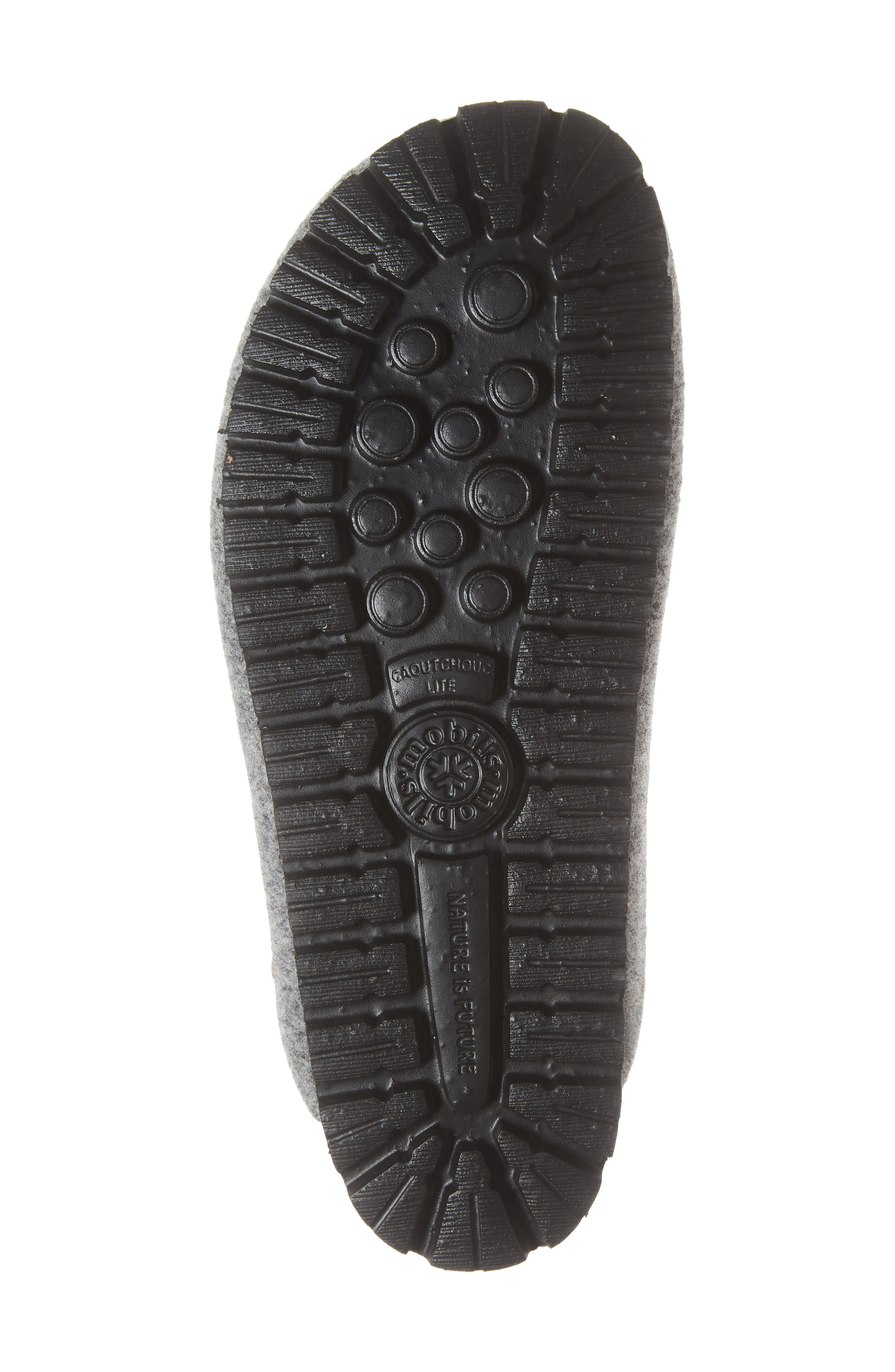 MEPHISTO, Thea Boiled Wool Clog, Alternate thumbnail 6, color, GREY FABRIC