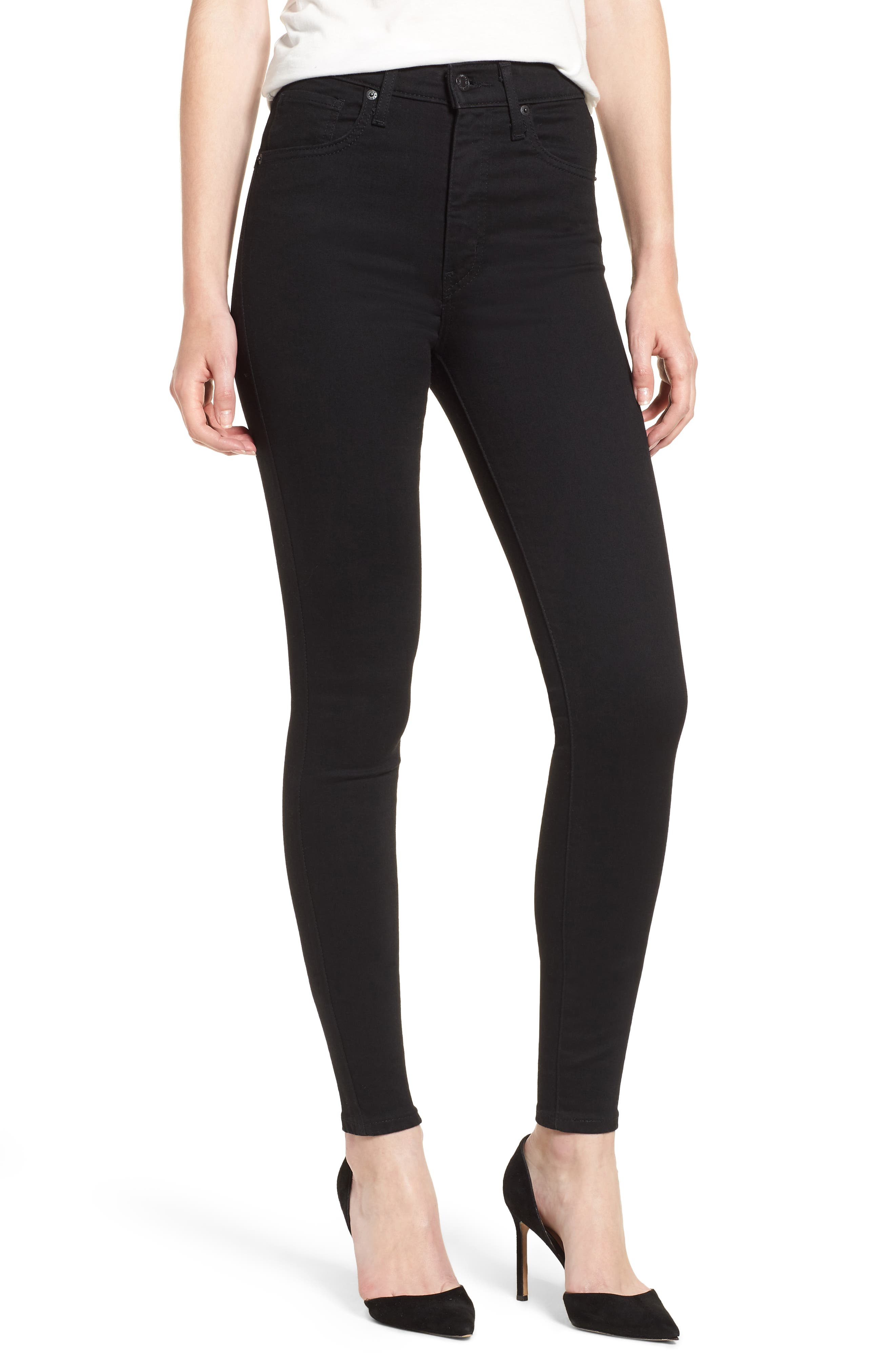 LEVI'S<SUP>®</SUP>, Mile High Super Skinny Jeans, Main thumbnail 1, color, BLACK GALAXY