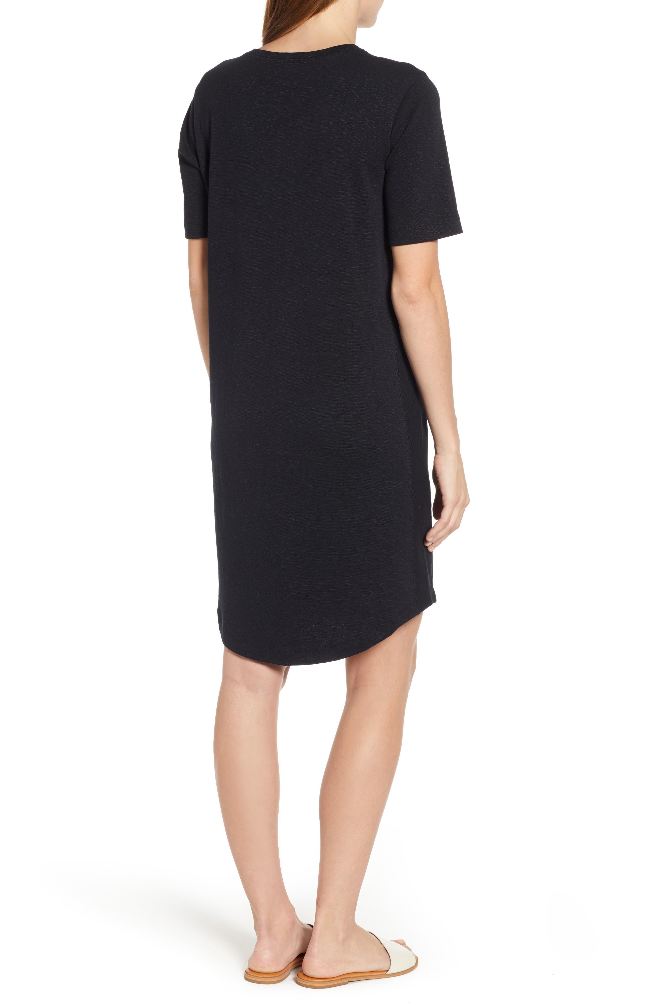CASLON<SUP>®</SUP>, Slub Knit Dress, Alternate thumbnail 2, color, BLACK